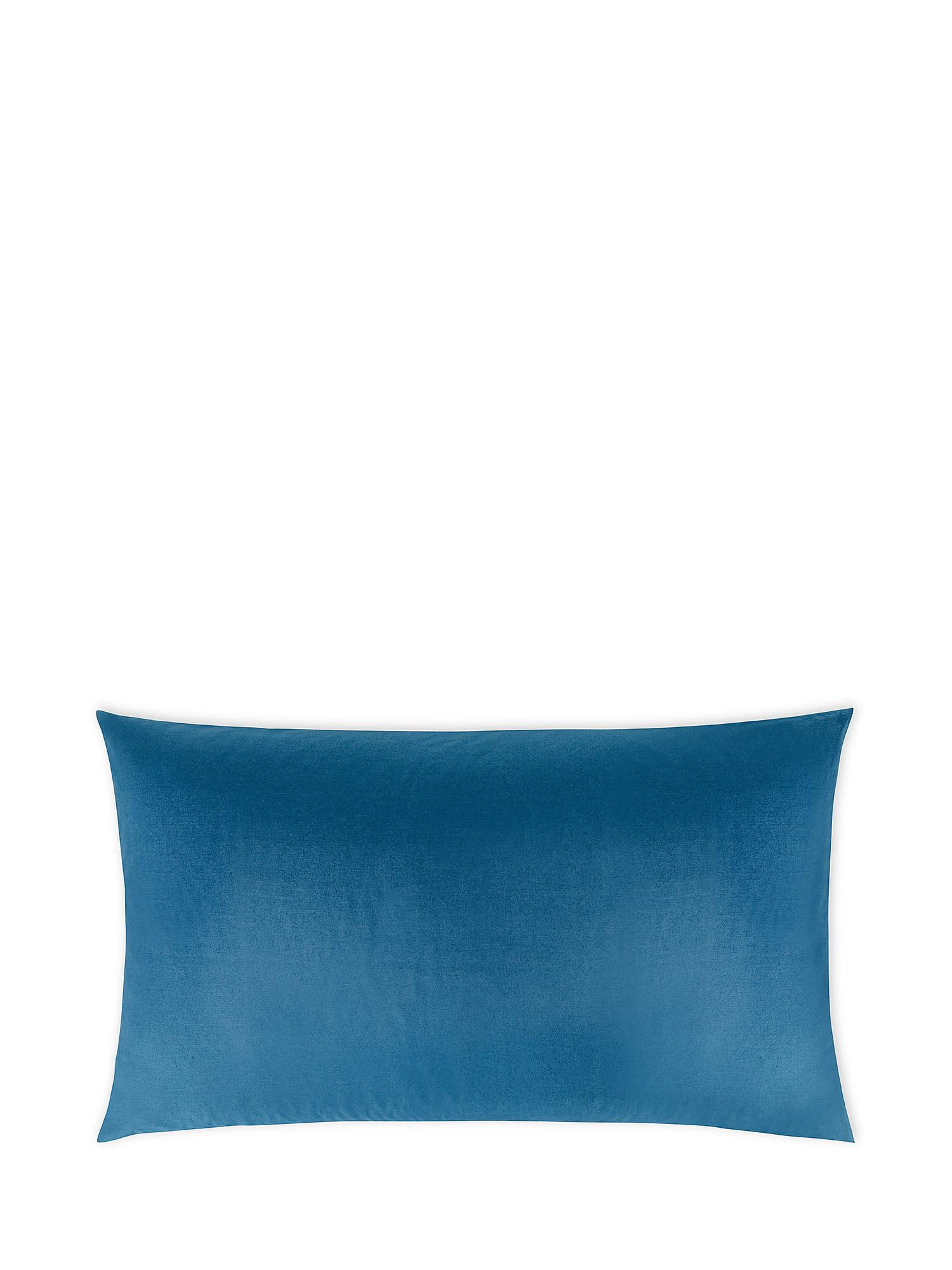Federa puro cotone tinta unita, Blu, large image number 0