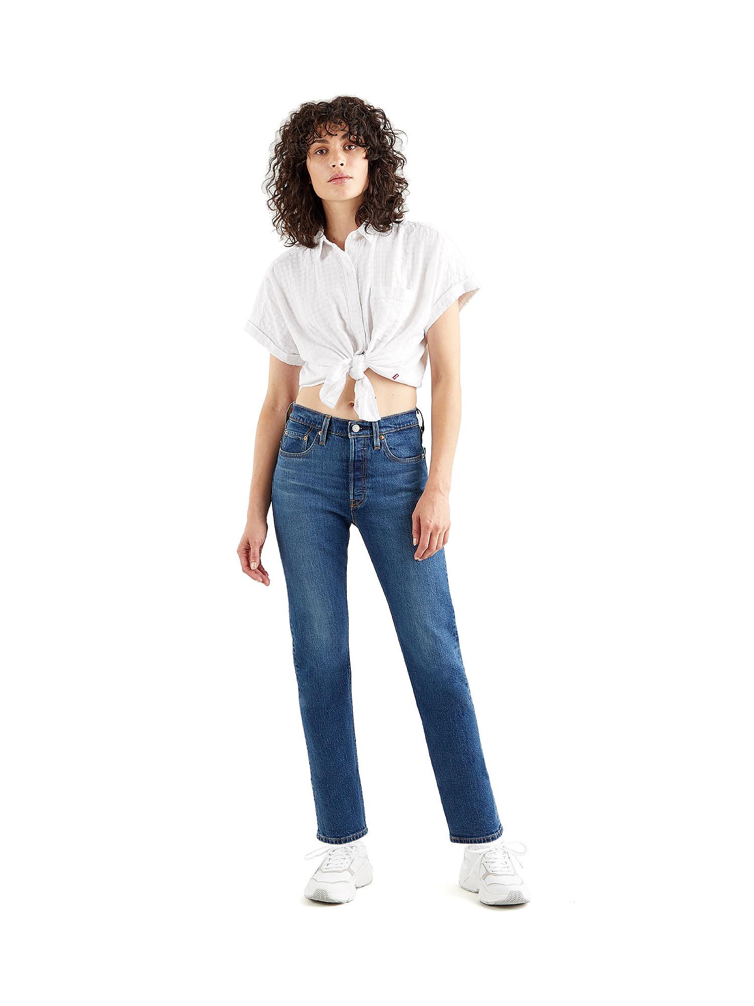 Jeans donna 501 crop, Denim, large image number 2