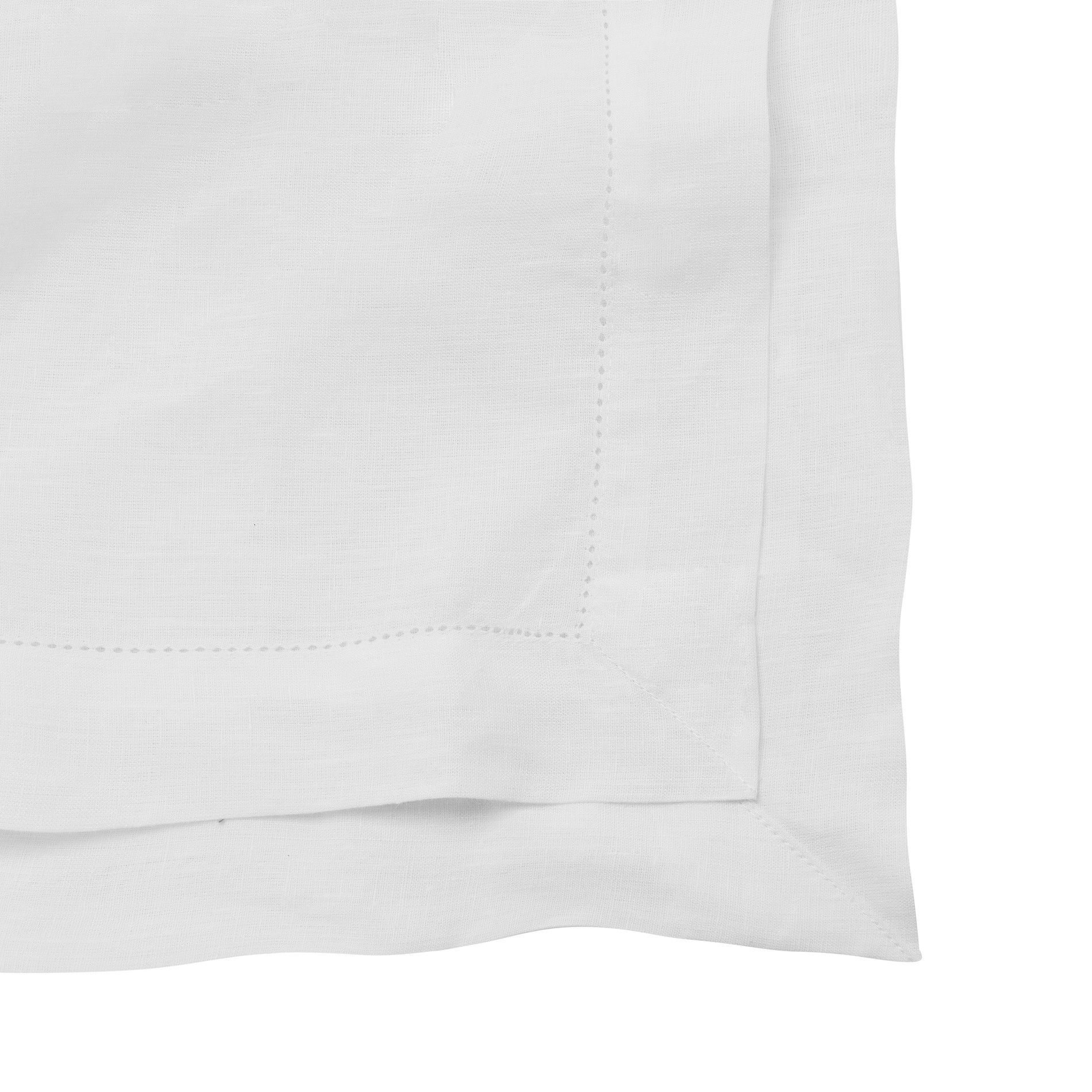 Tovaglia puro lino bordo a-jour, Bianco, large image number 1