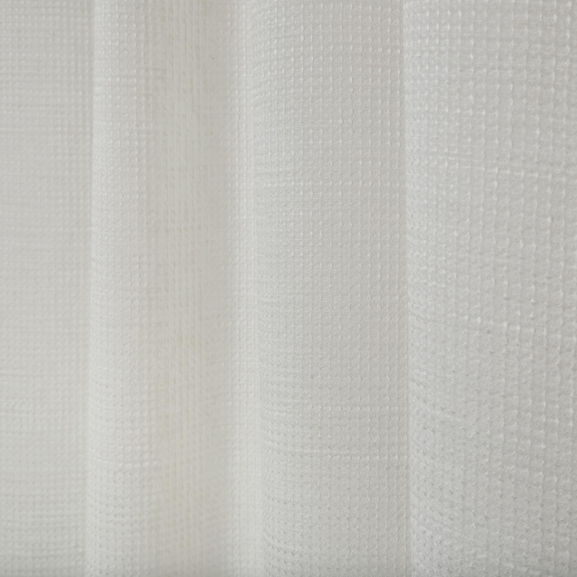 Tenda misto lino passanti nascosti, Bianco, large image number 0