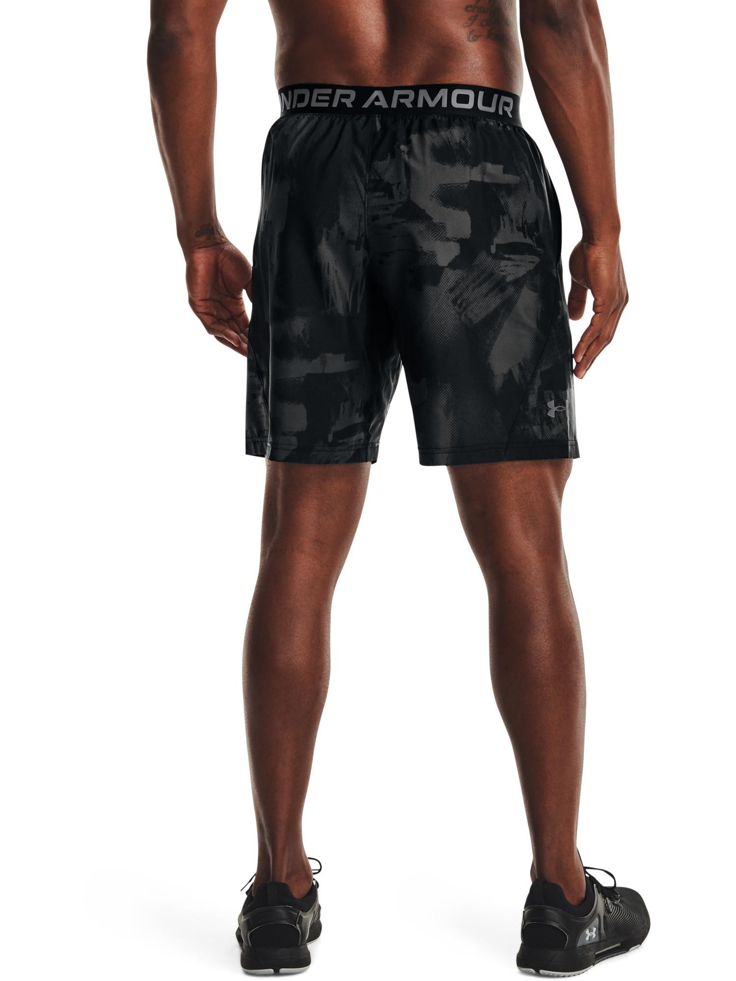 Shorts UA Woven Adapt da uomo, Nero, large image number 3