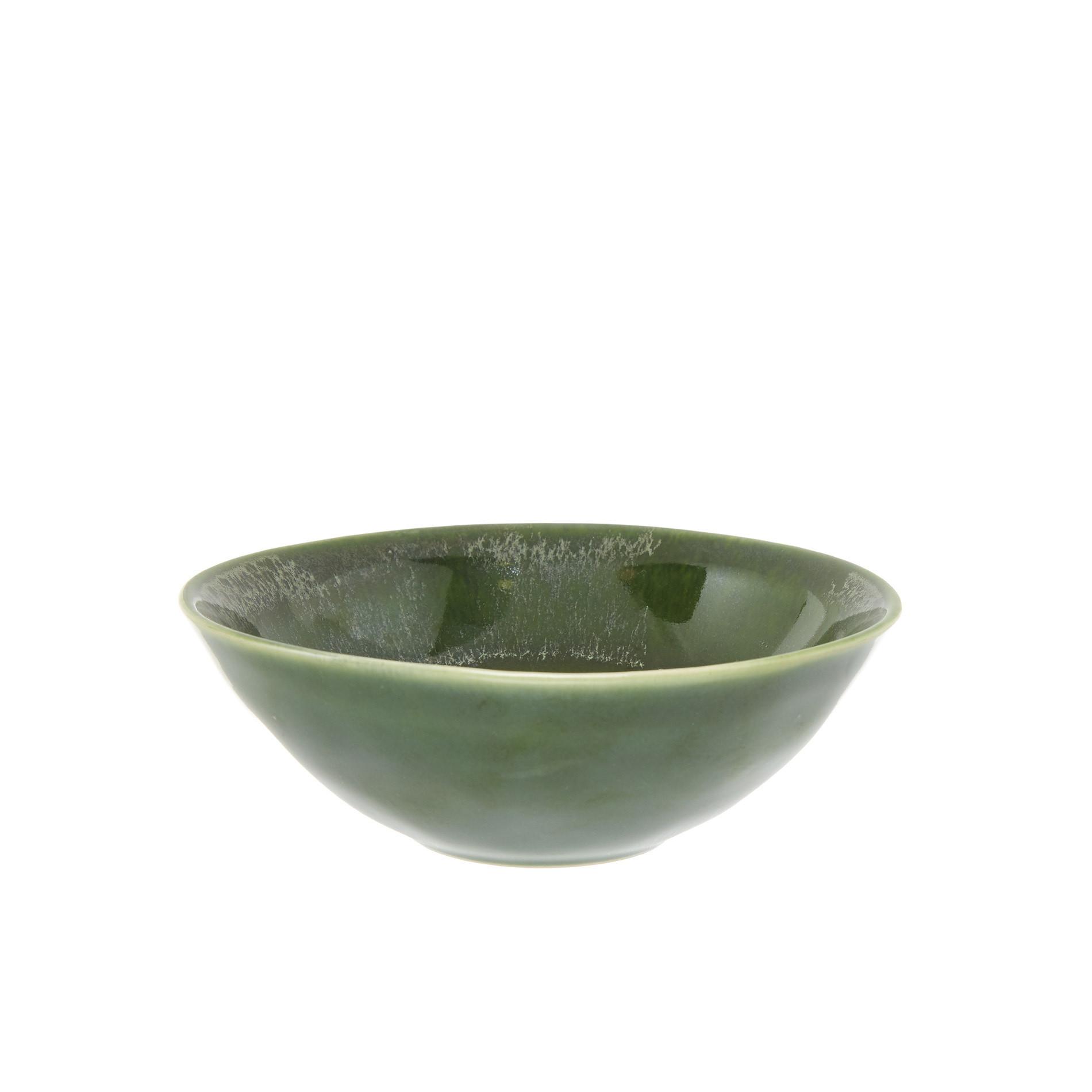 Coppetta ceramica effetto anticato, Verde, large image number 0