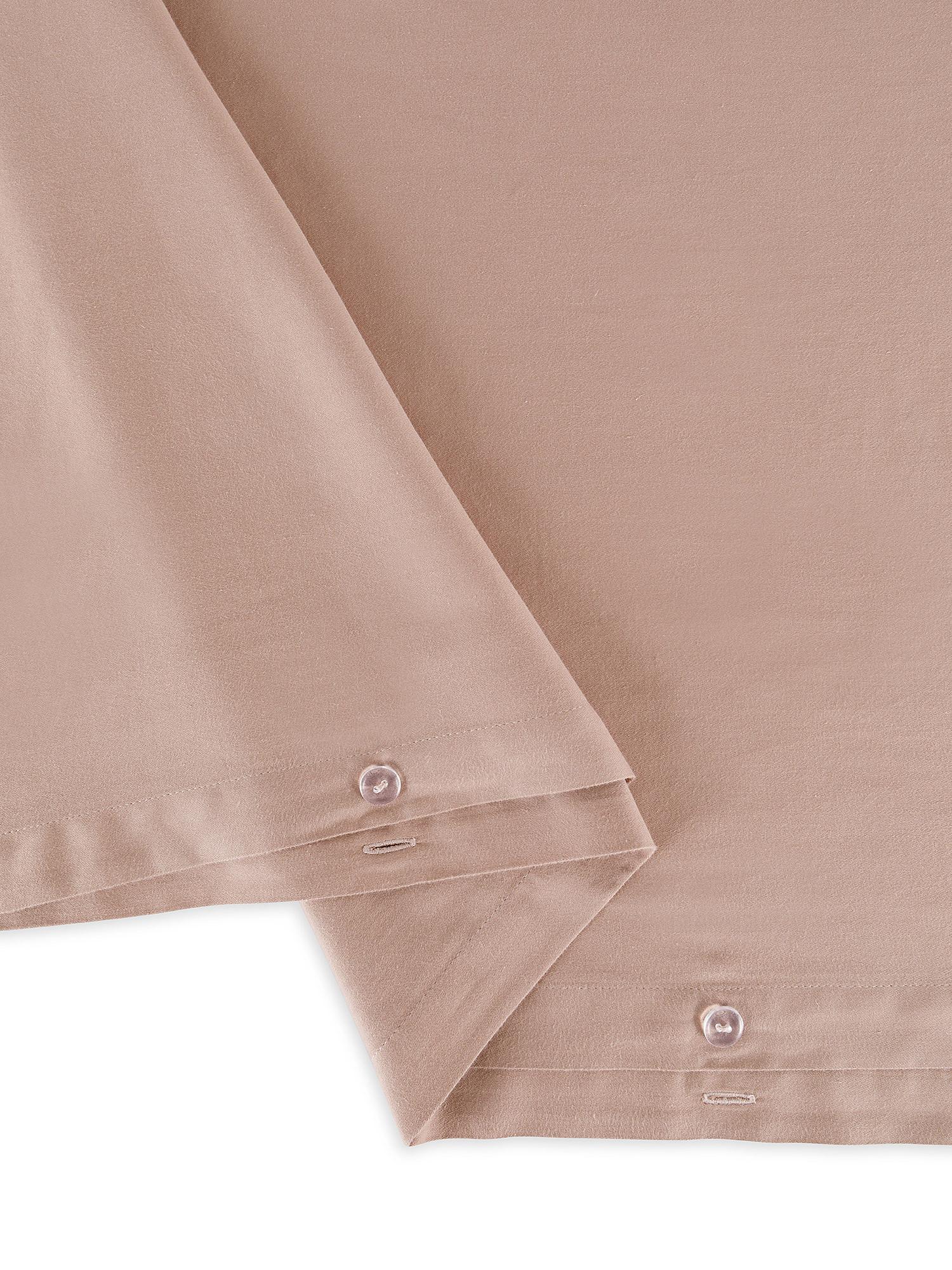 Copripiumino raso di cotone lavato orlo à-jour, Rosa, large image number 2