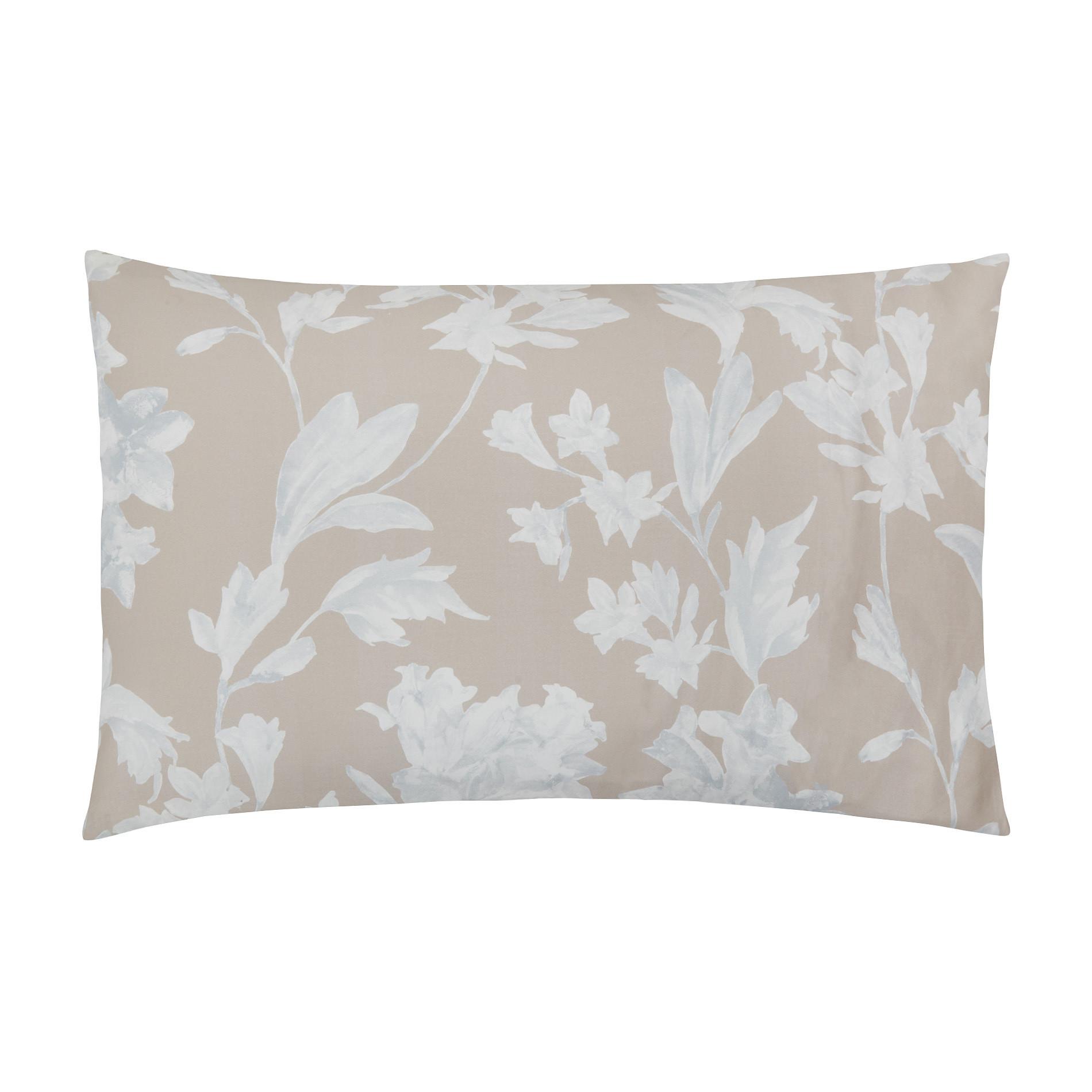 Federa raso di cotone motivo floreale Portofino, Beige, large image number 0
