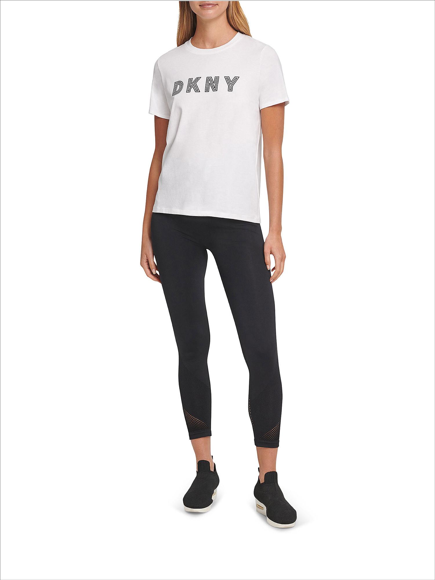 T-shirt track logo a maniche corte, Bianco, large image number 2