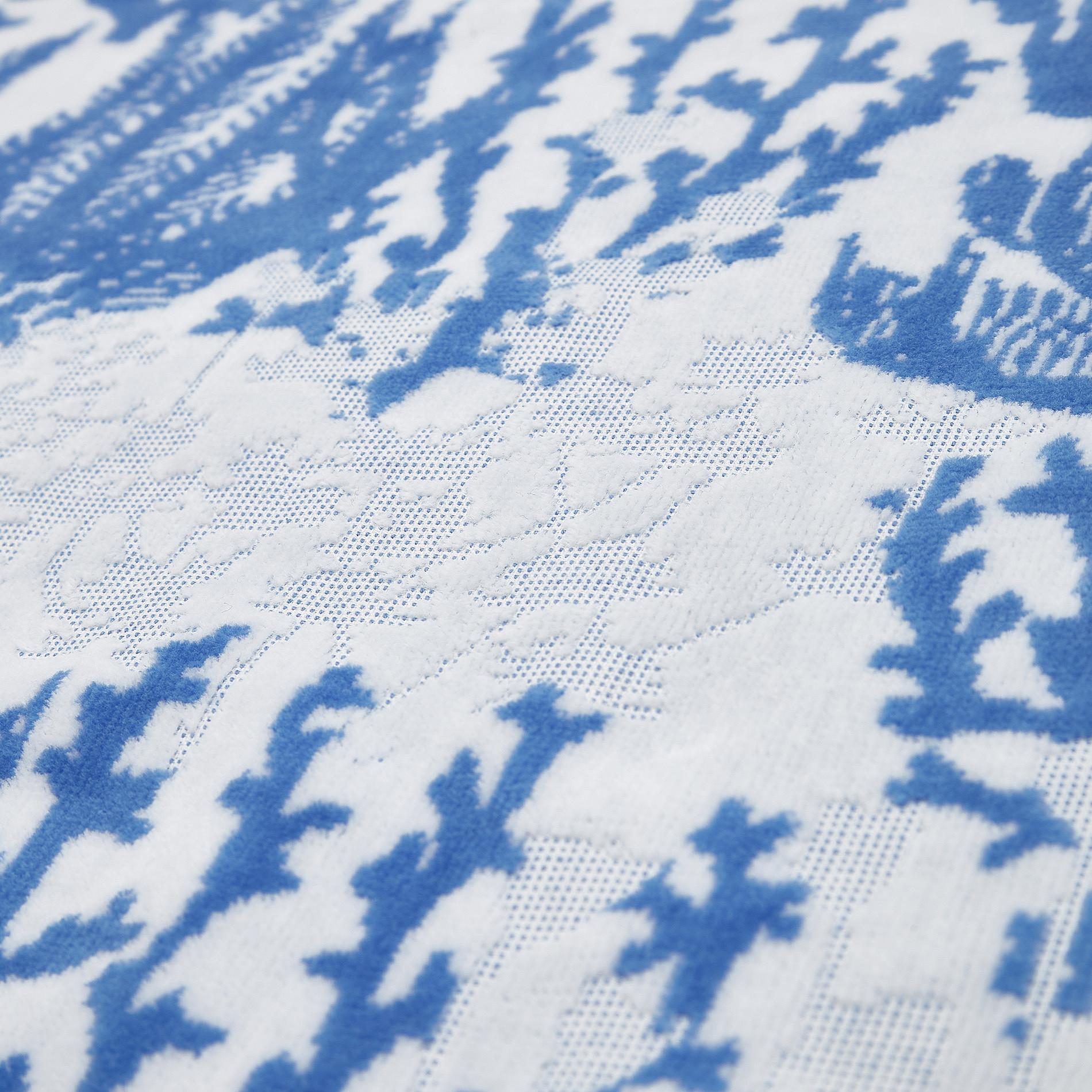 Asciugamano cotone velour motivo coralli, Blu, large image number 2