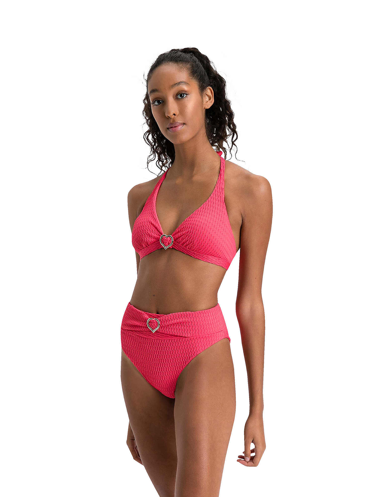 Top bikini triangolo, Rosso ciliegia, large image number 2