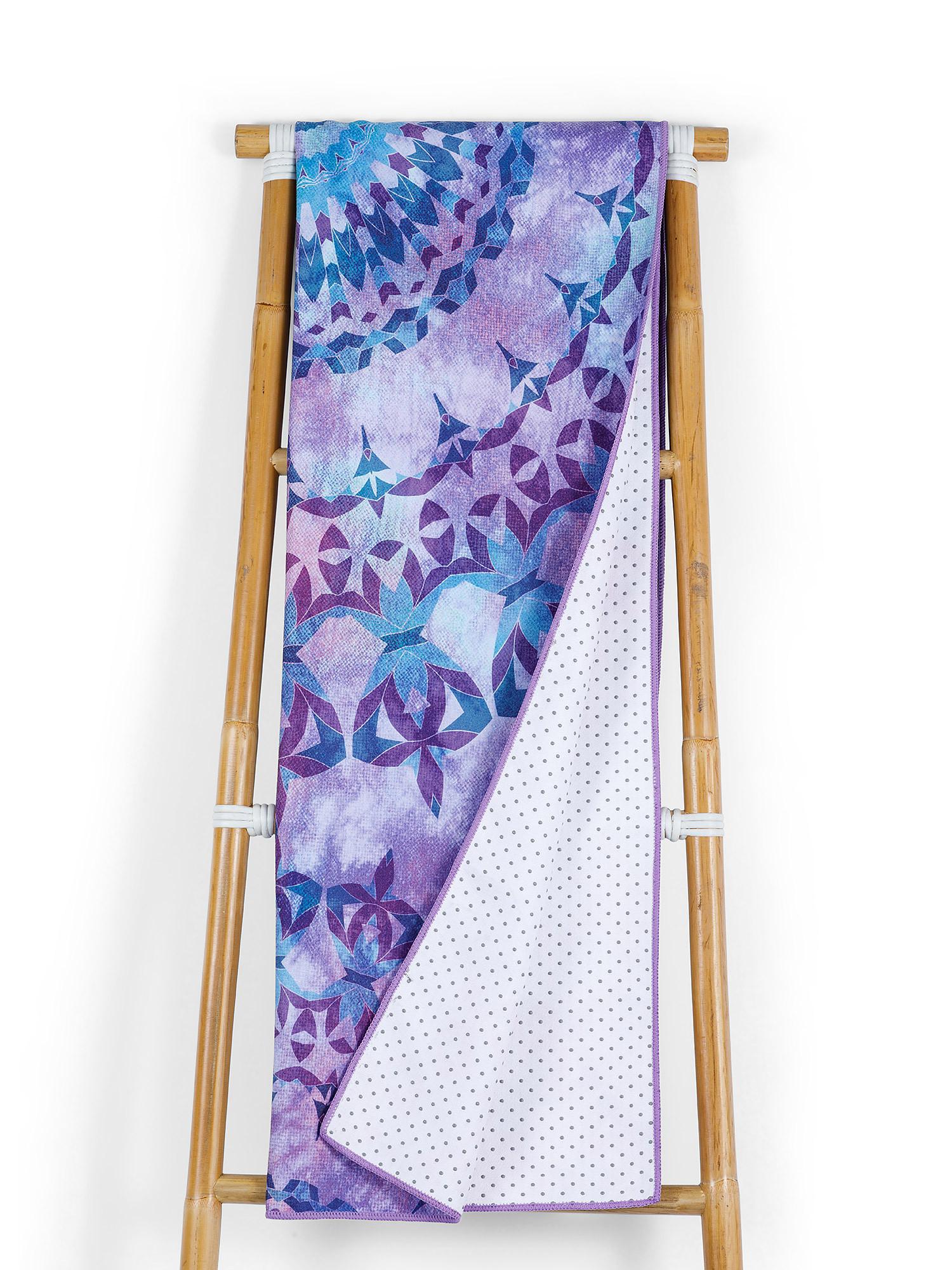 Telo yoga in microfibra stampa mandala, Multicolor, large image number 0
