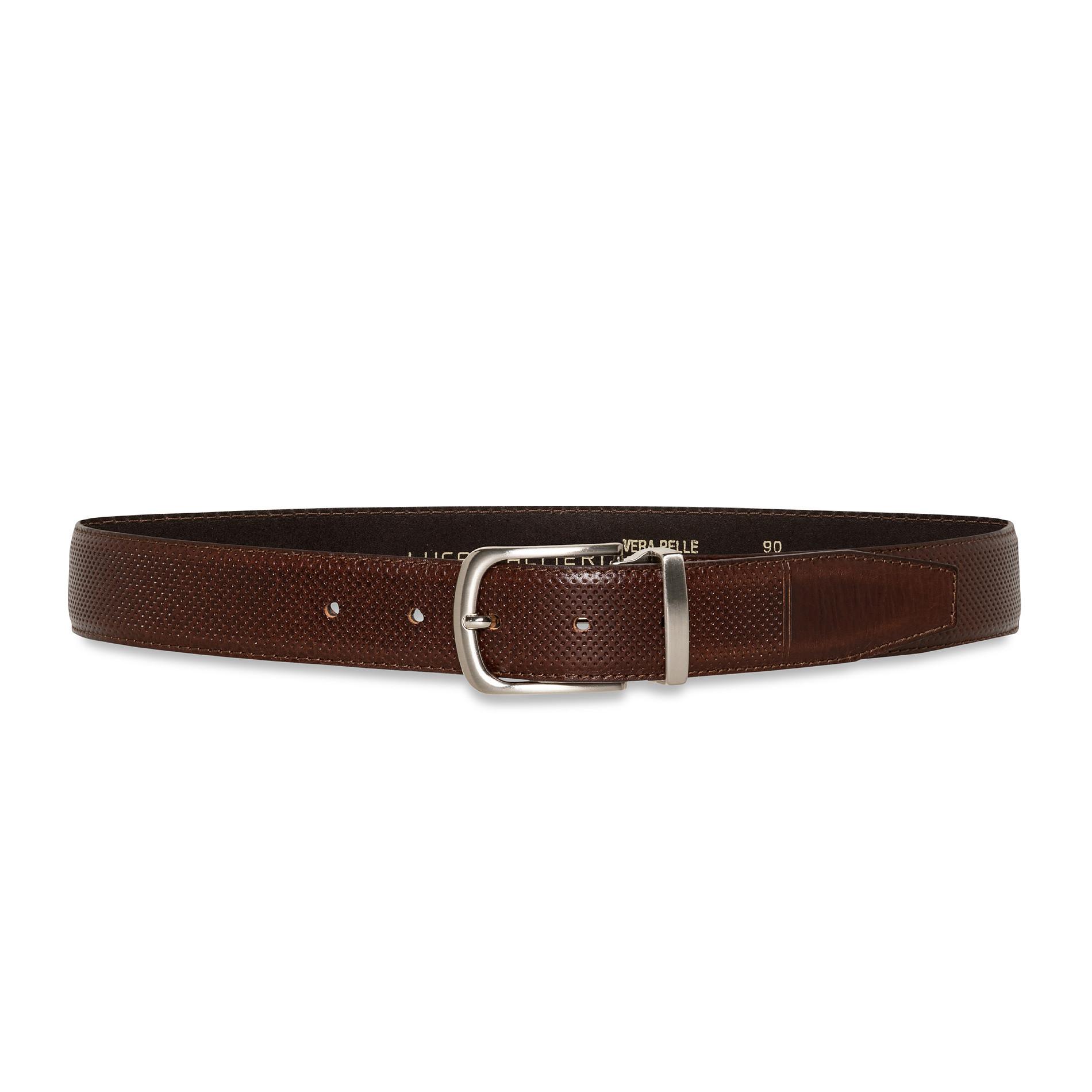 Cintura in vera pelle, Marrone scuro, large image number 0