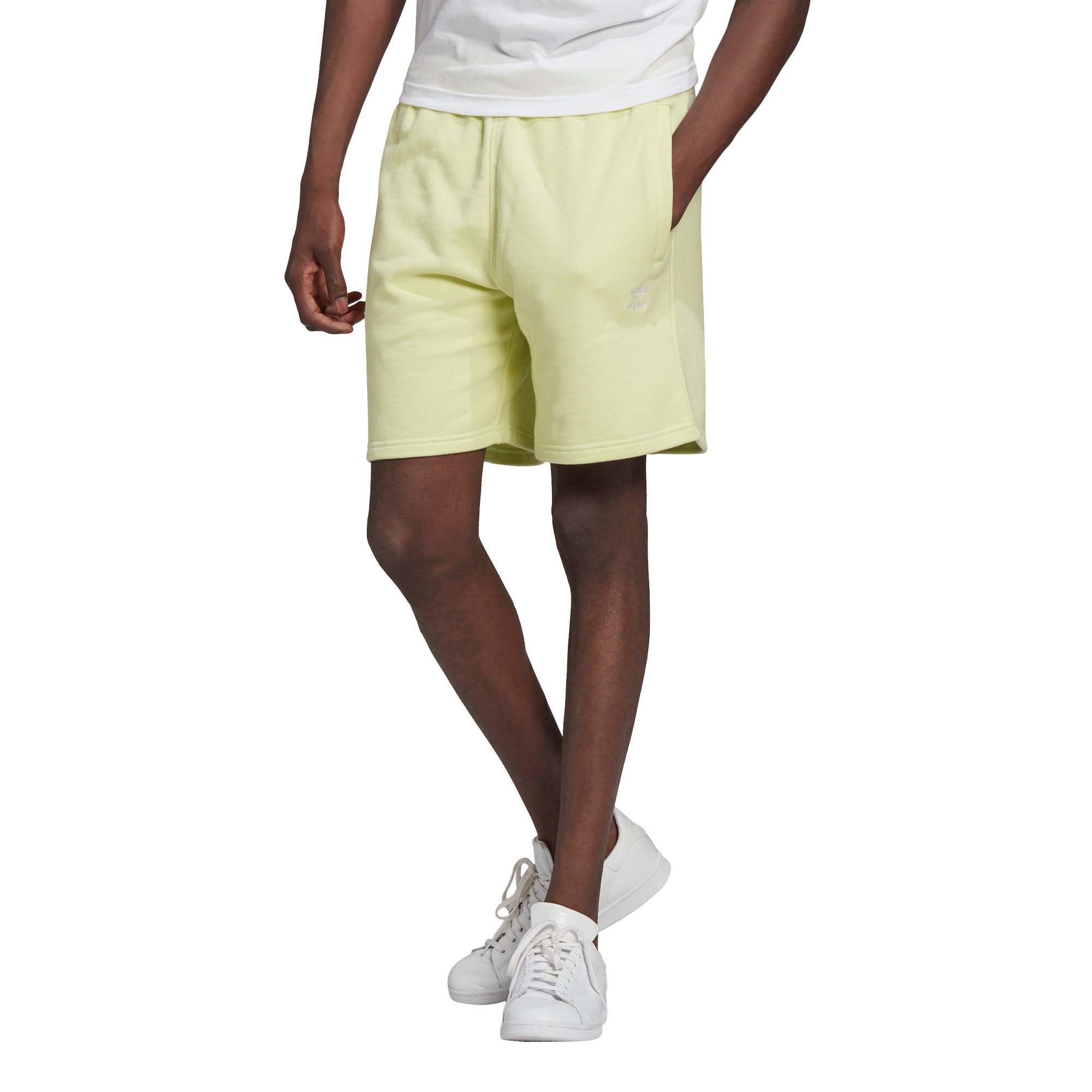 Short loungewear trefoil essentials, Giallo, large image number 2