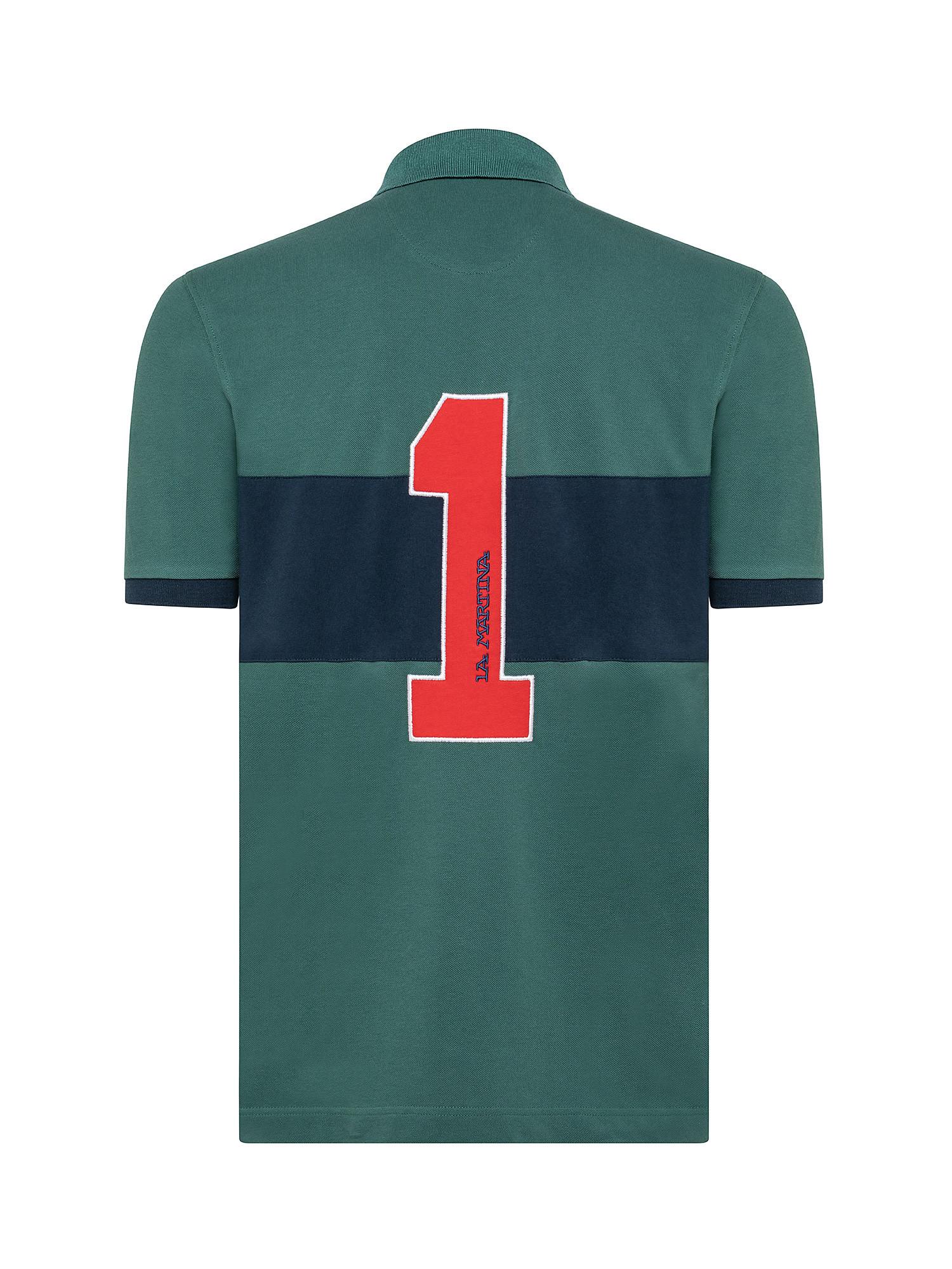 Polo da uomo a maniche corte regular fit, Verde, large image number 1
