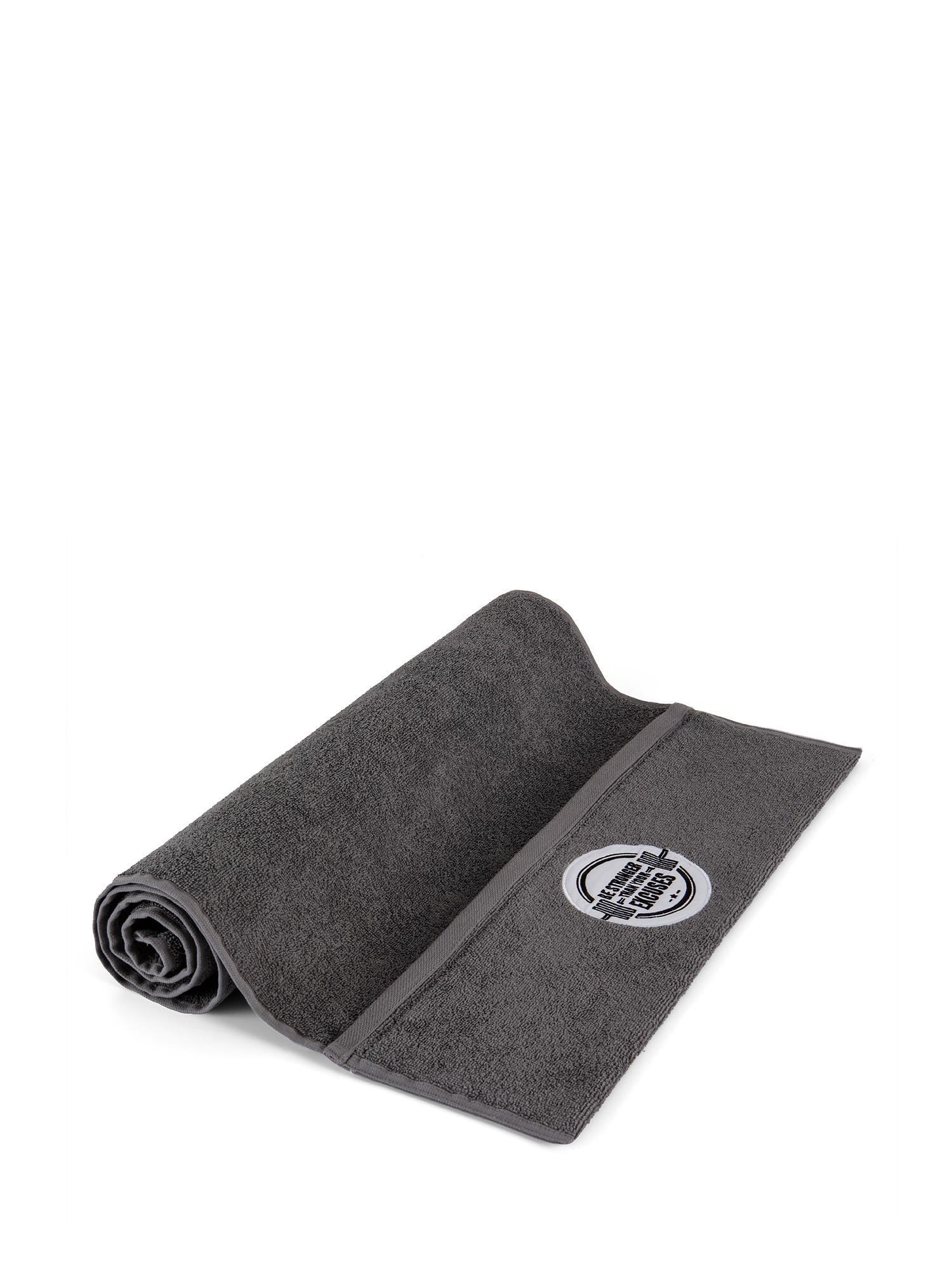 Asciugamano da palestra e fitness, Grigio, large image number 0