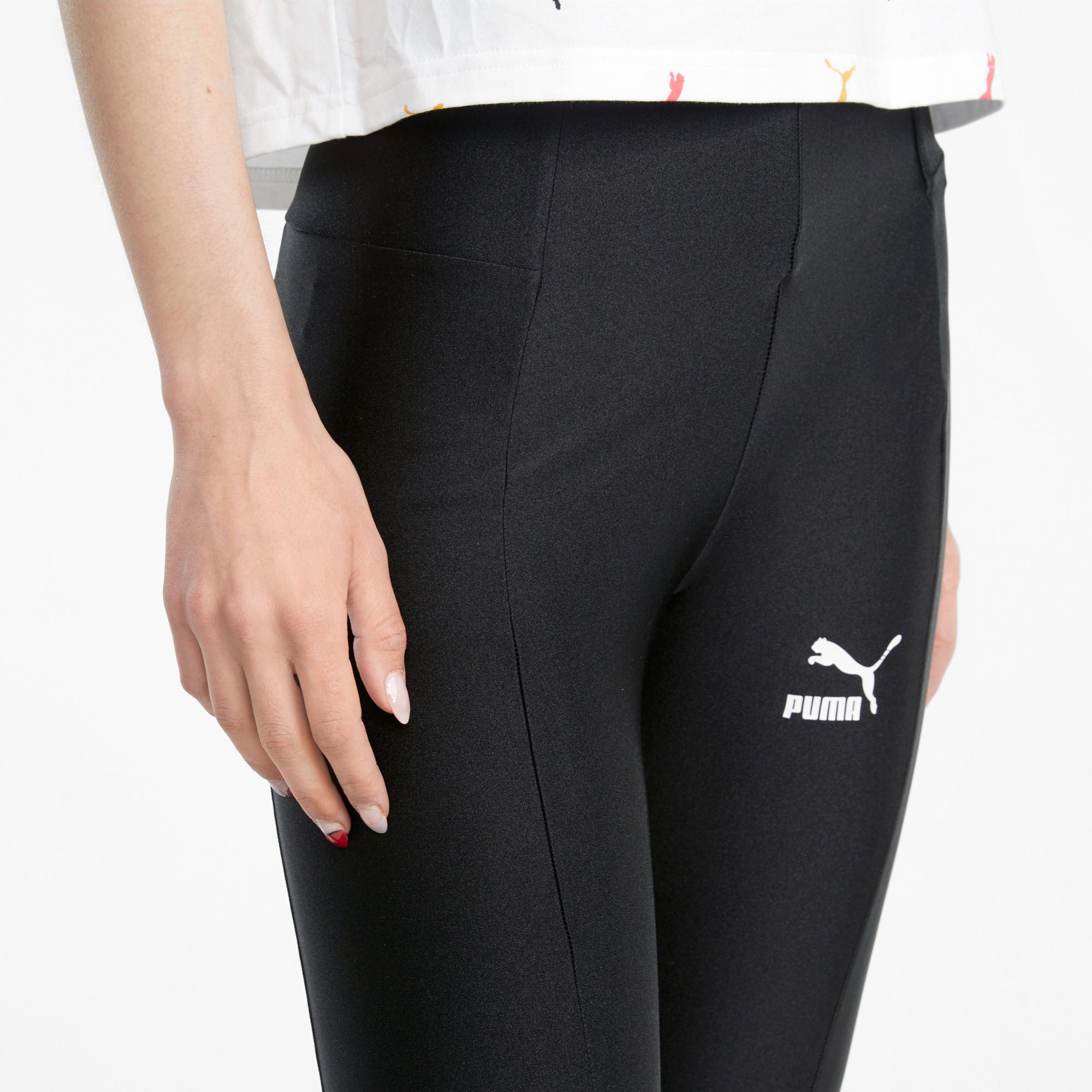 Leggings sportivi a vita alta Classics Shiny, Nero, large image number 4