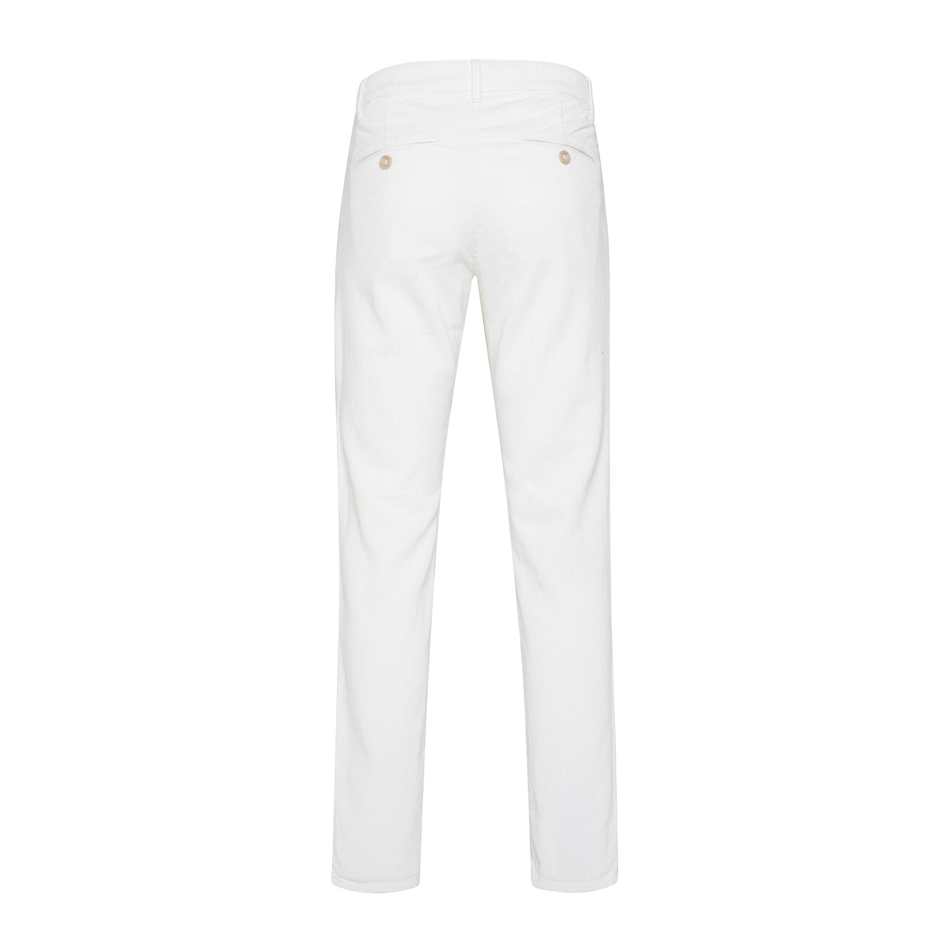 Pantaloni chino velluto stretch, Bianco, large image number 1