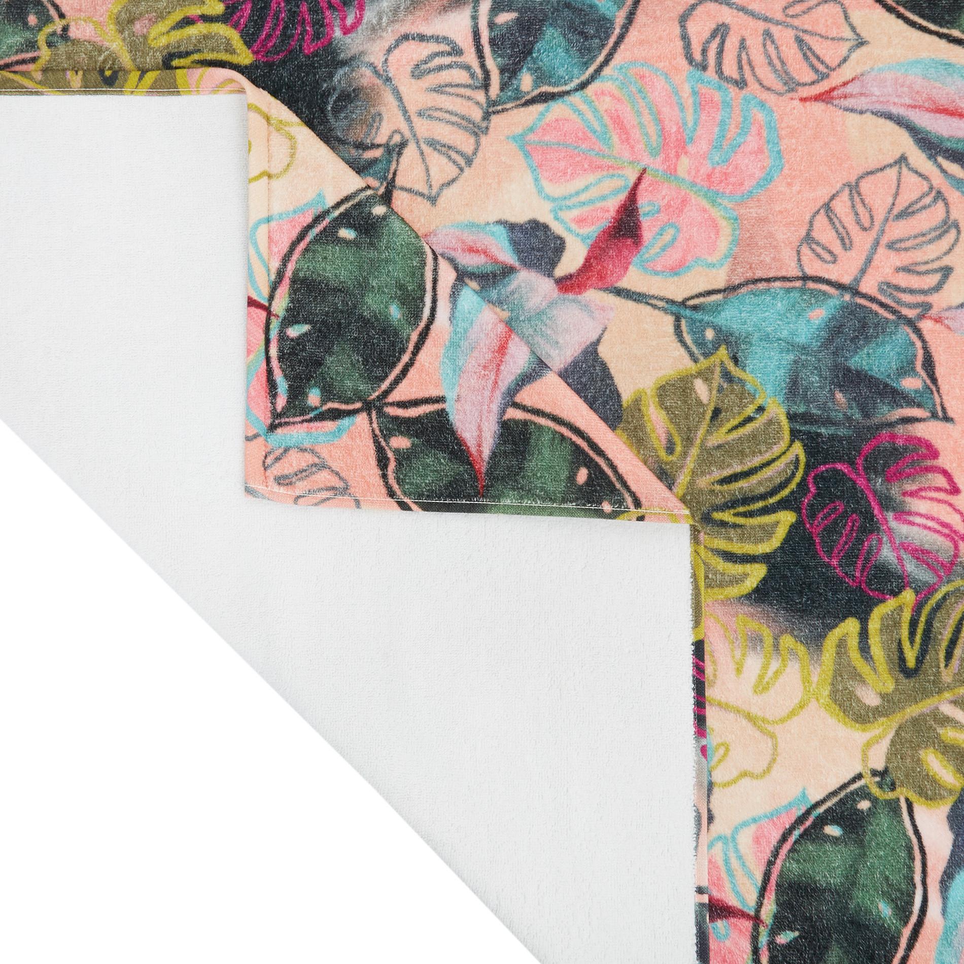 Telo mare cotone velour stampa digitale multicolore, Multicolor, large image number 1