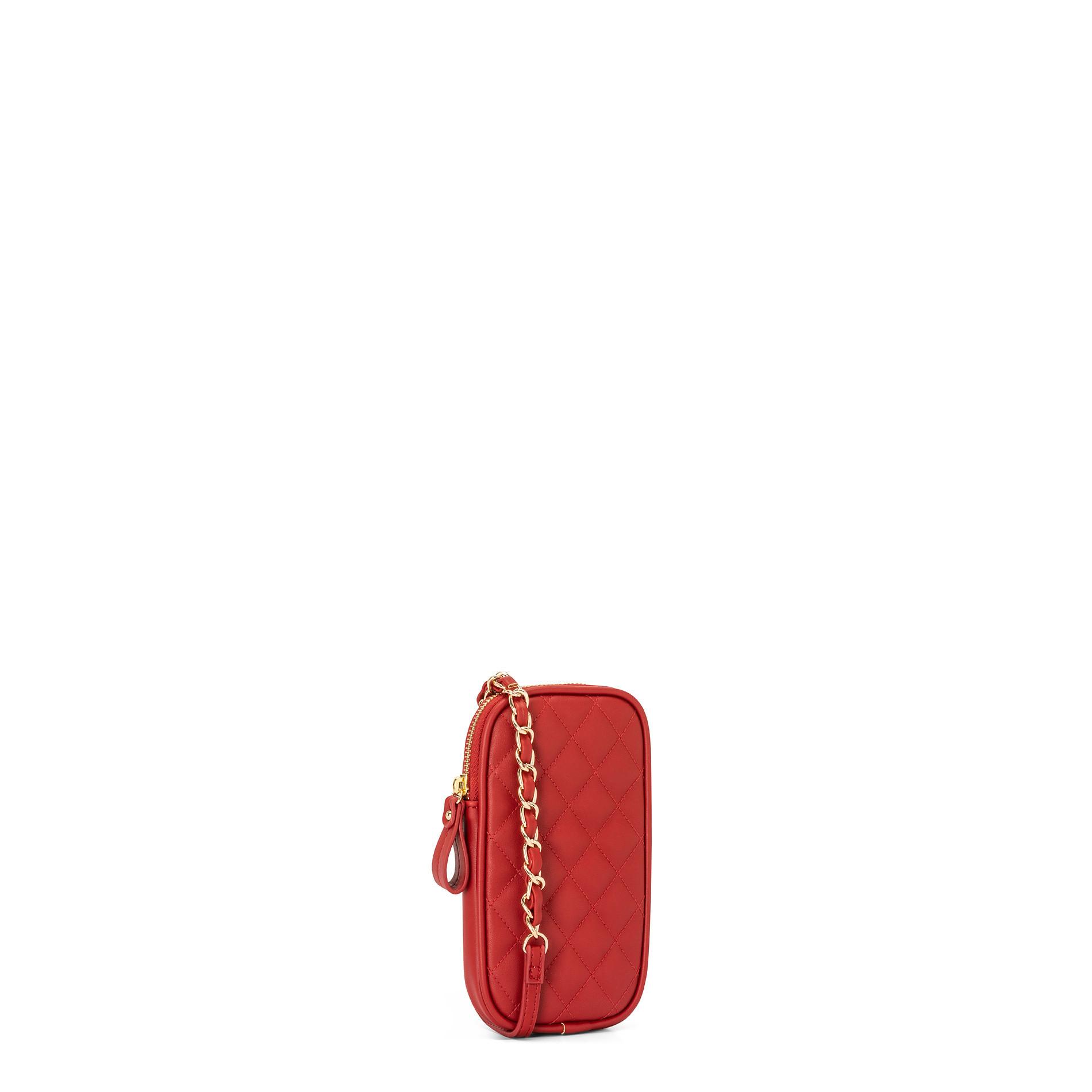 Porta smartphone effetto trapuntato Koan, Rosso scuro, large image number 0
