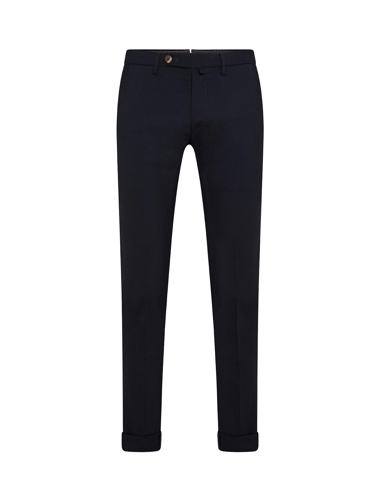 Pantalone chino misto lana, Blu scuro, large image number 0