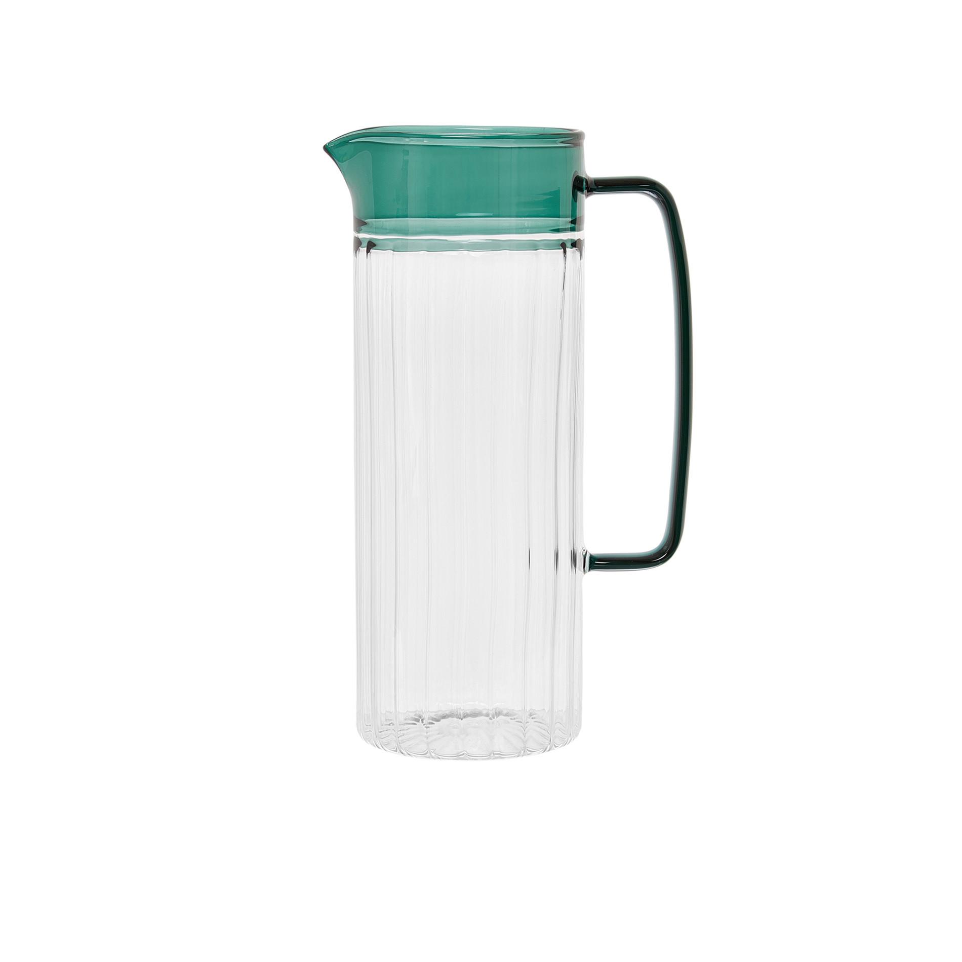 Caraffa vetro borosilicato manico colorato, Trasparente, large image number 0