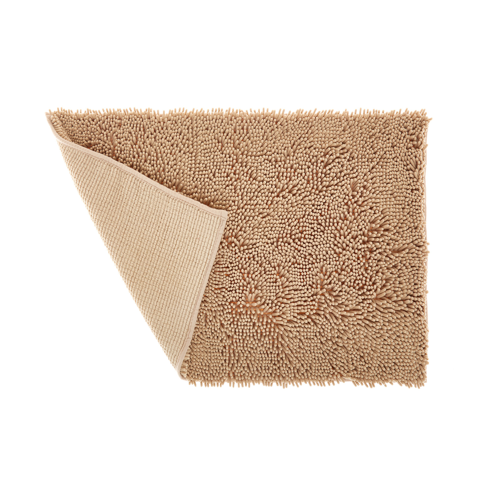 Tappeto bagno microfibra shaggy, Beige, large image number 1