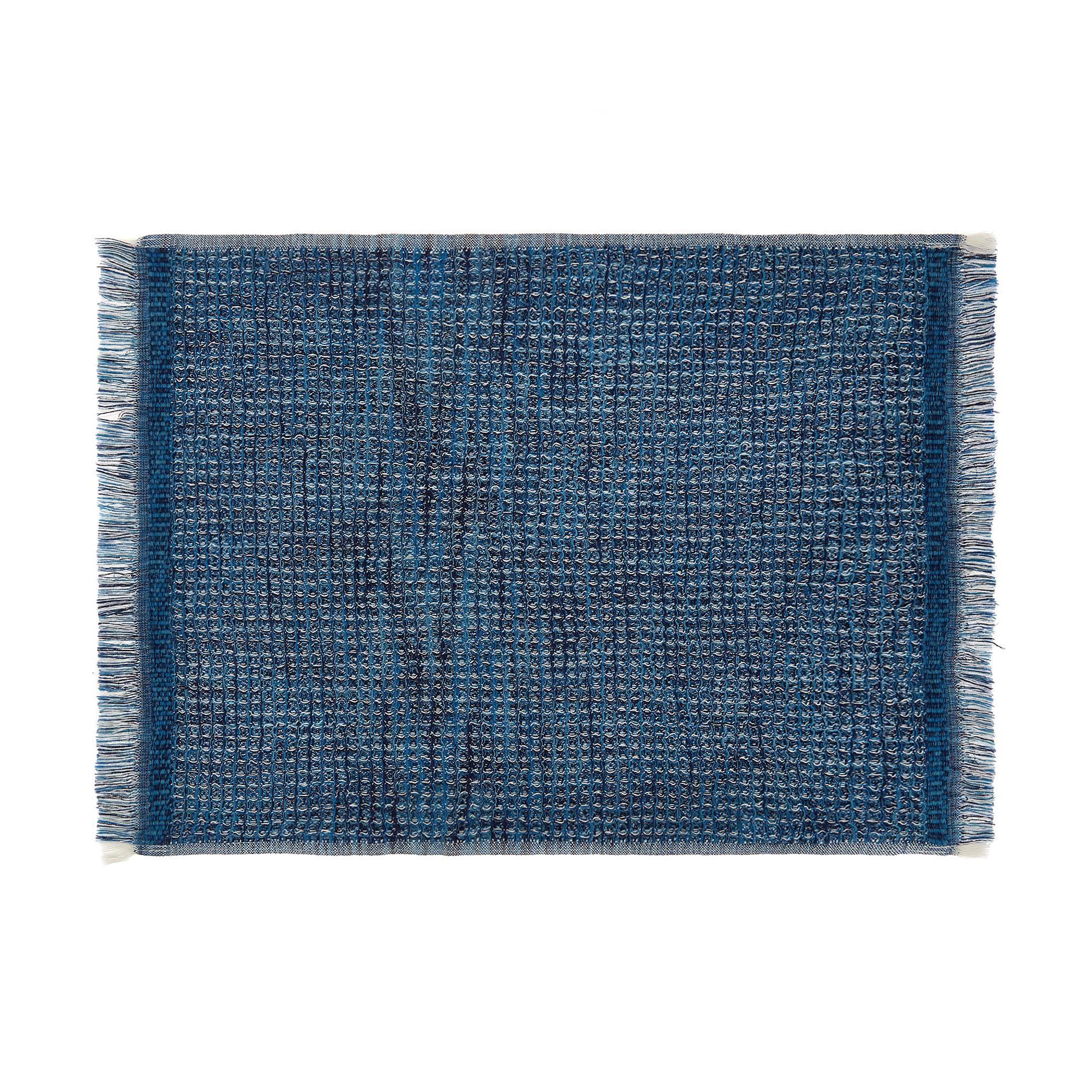 Asciugamano cotone nido d'ape effetto melange, Blu, large image number 1