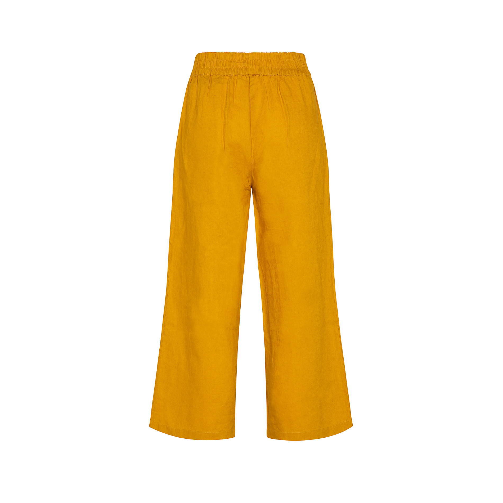 Pantalone puro lino con fusciacca Koan, Arancione, large image number 1
