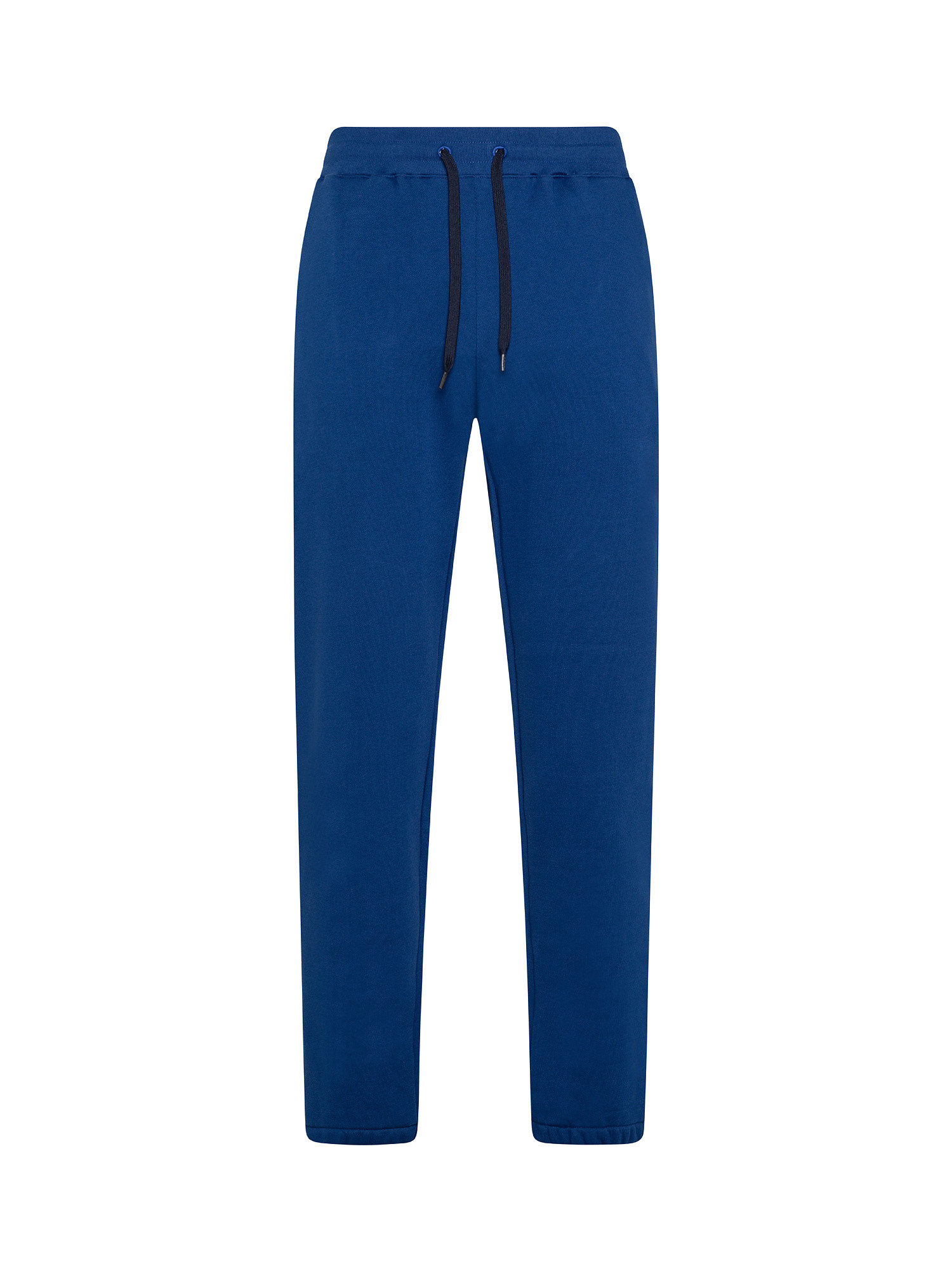 Pantaloni uomo tuta stampa 'Happy', Blu, large image number 0