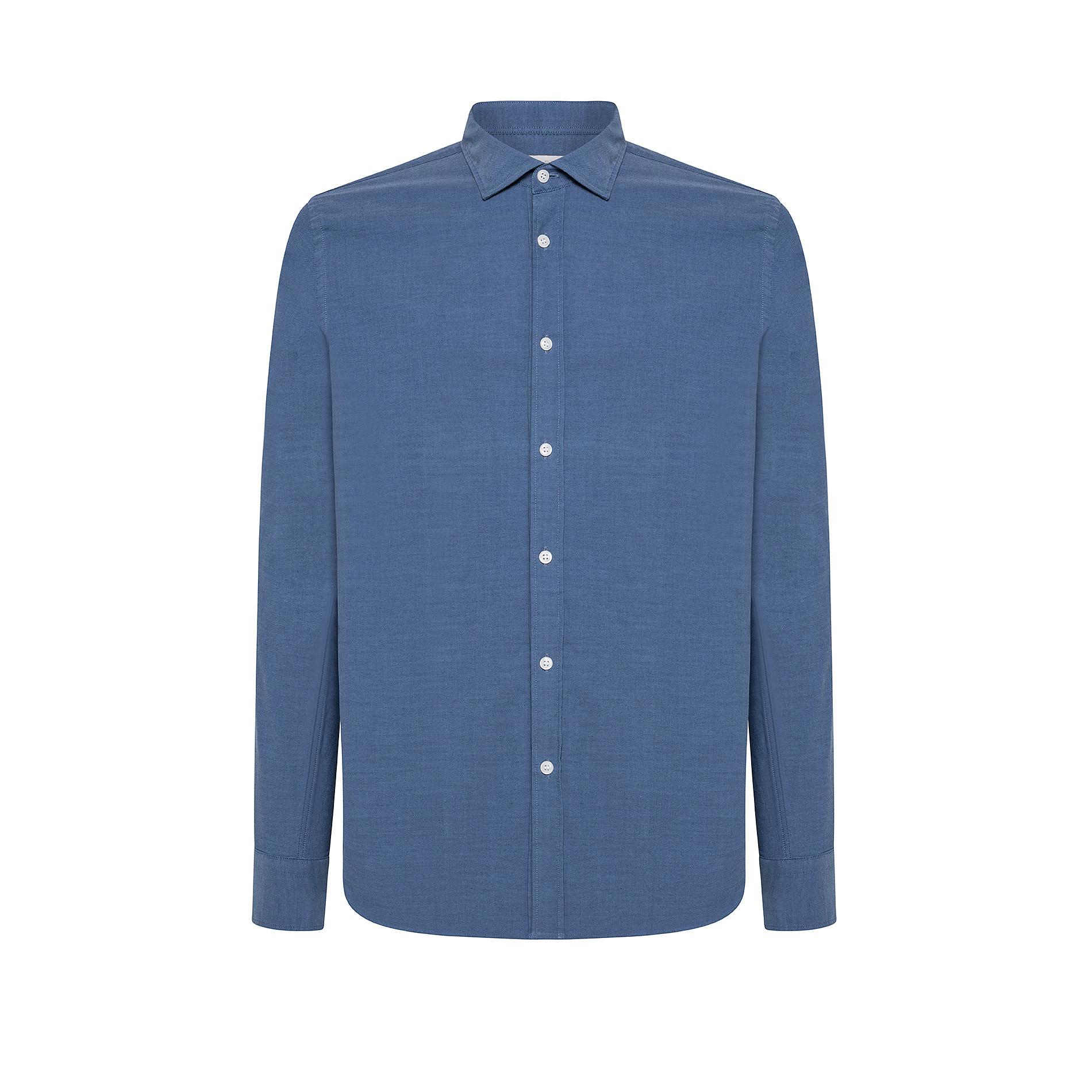 Camicia in cotone doppio ritorto, Denim, large image number 0
