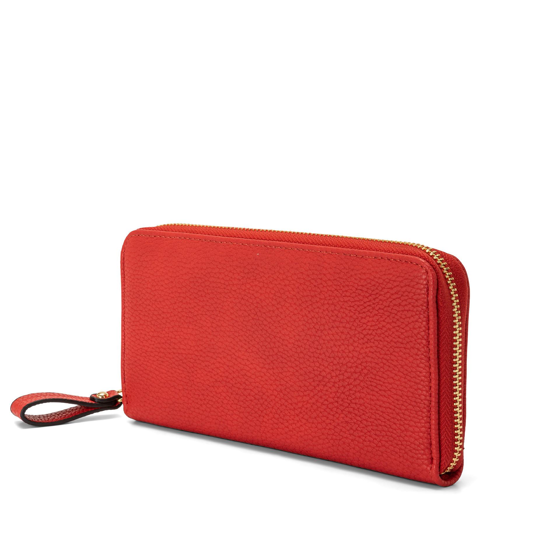 Portafoglio effetto granato Koan, Rosso, large image number 0