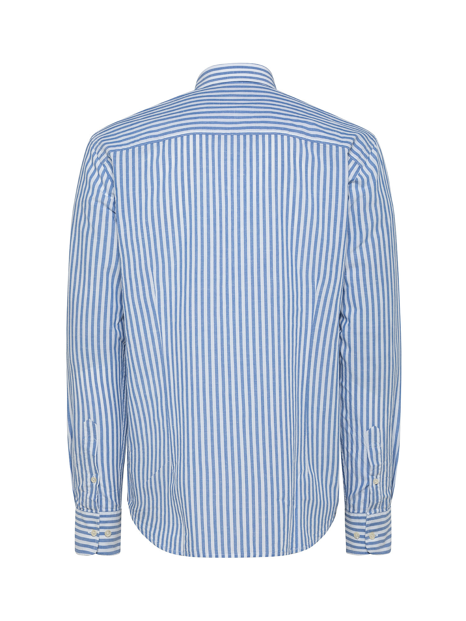 Camicia da uomo in misto lino e cotone regular fit, Bianco, large image number 1