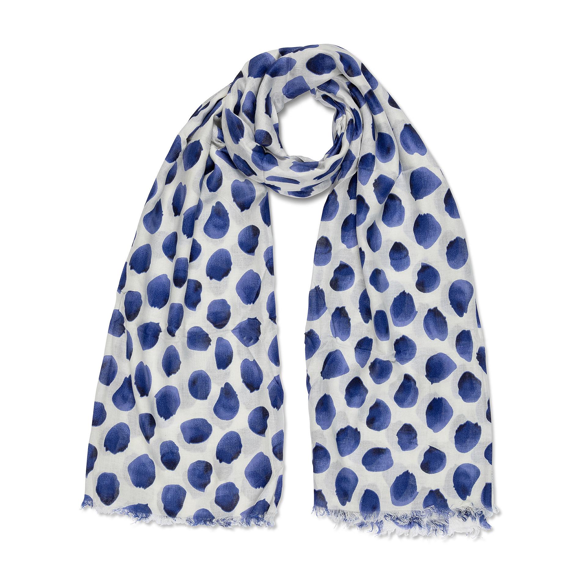 Sciarpa viscosa stampa petali Koan, Blu, large image number 0
