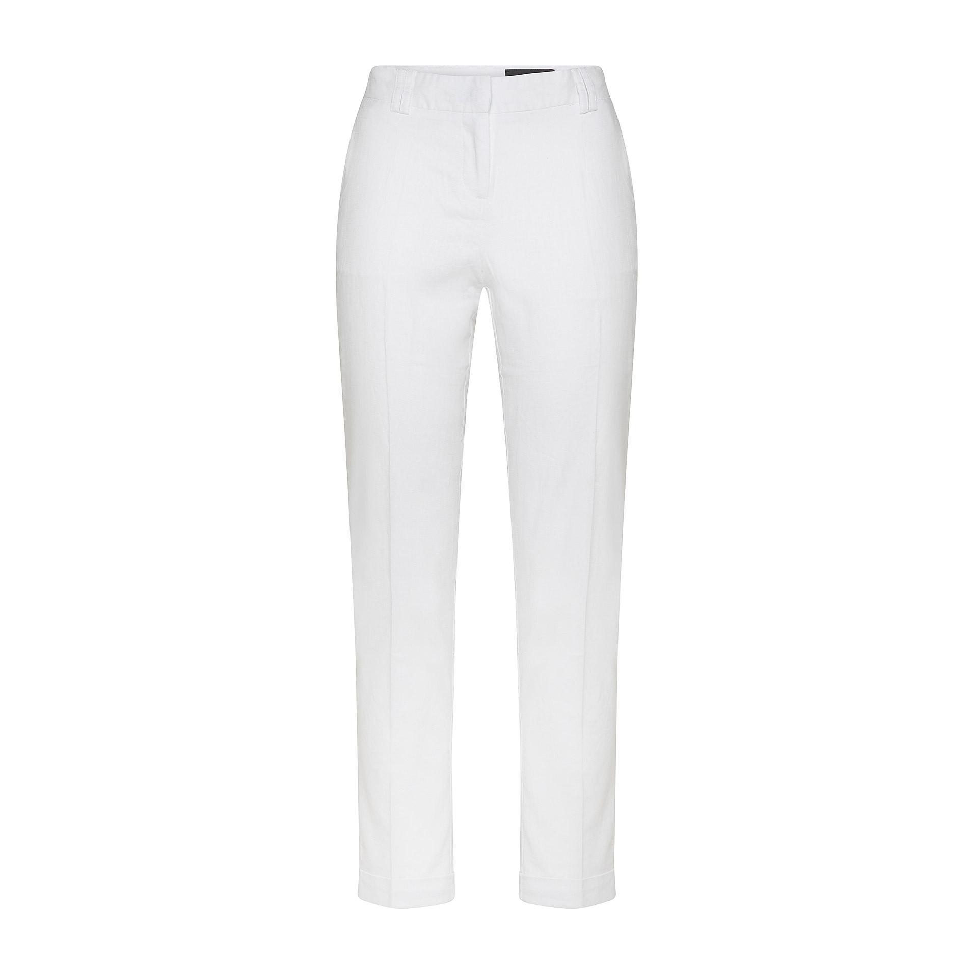 Pantalone classico in misto lino Koan, Bianco, large image number 0