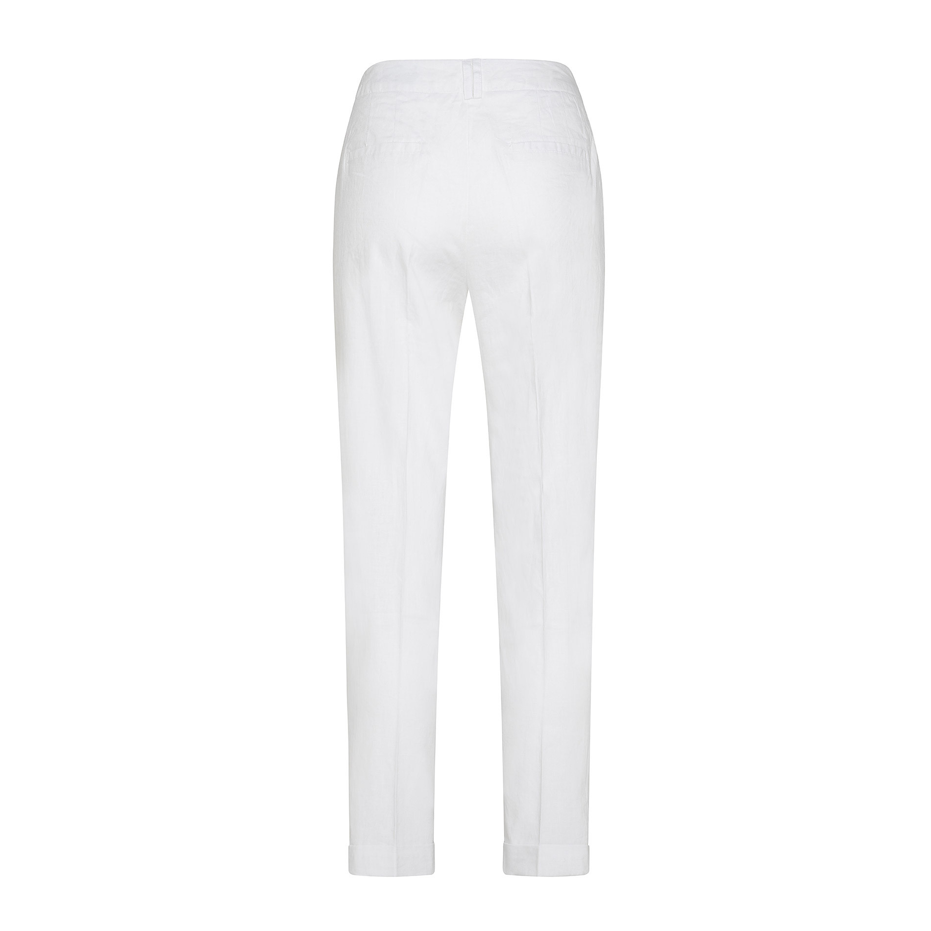 Pantalone classico in misto lino Koan, Bianco, large image number 1