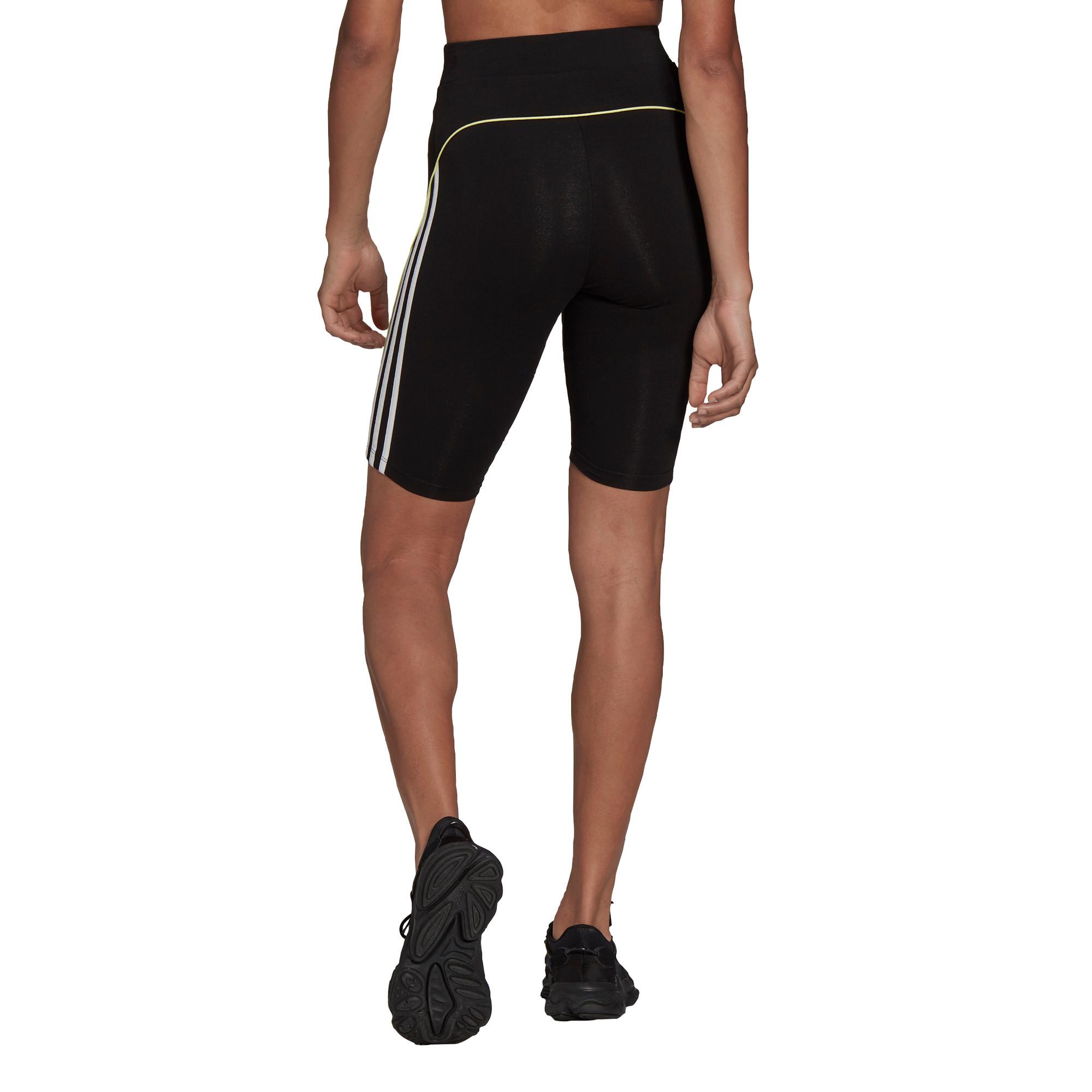 Shorts a vita alta con bordino corto, Nero, large image number 1