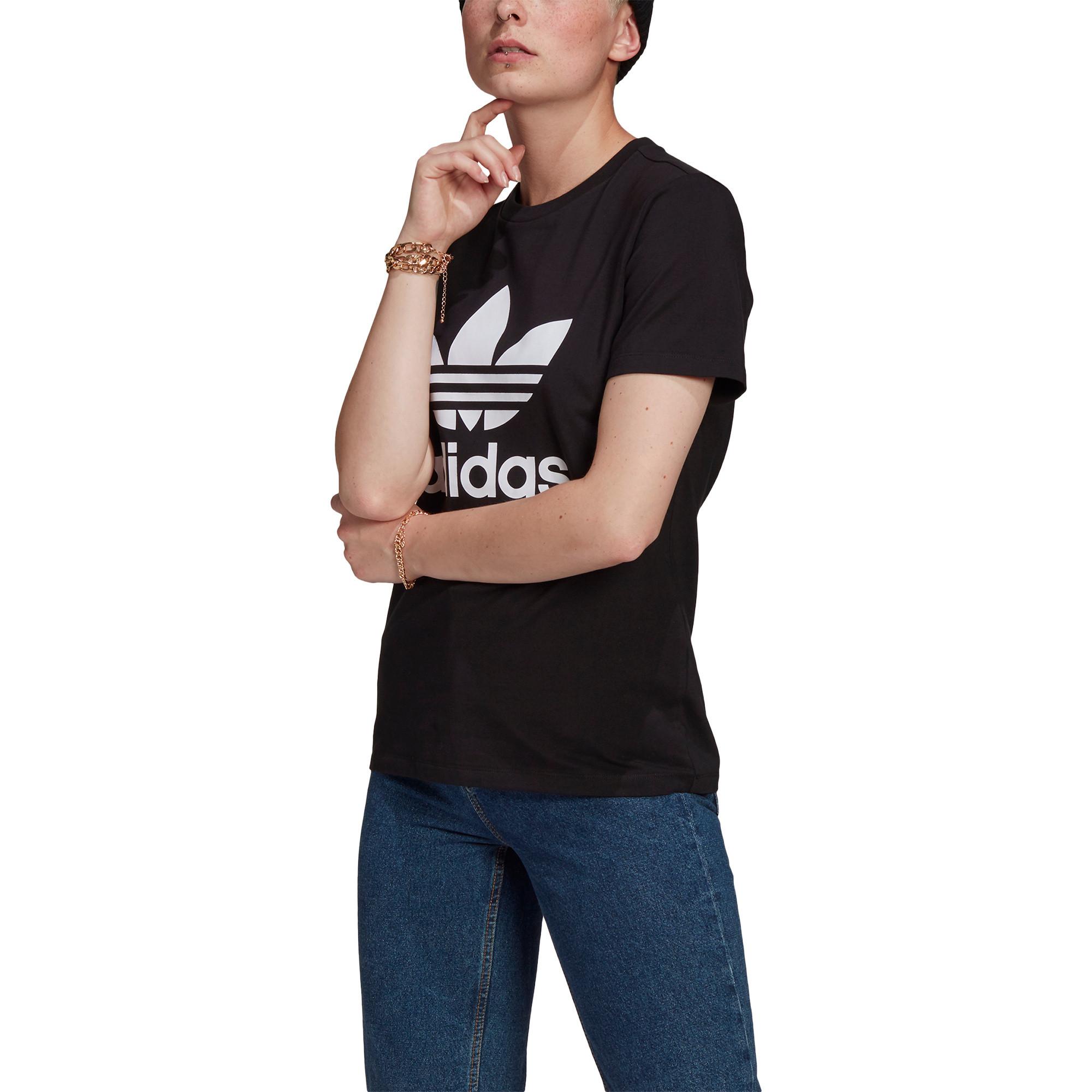 T-shirt adicolor Classics Trefoil, Nero, large image number 2