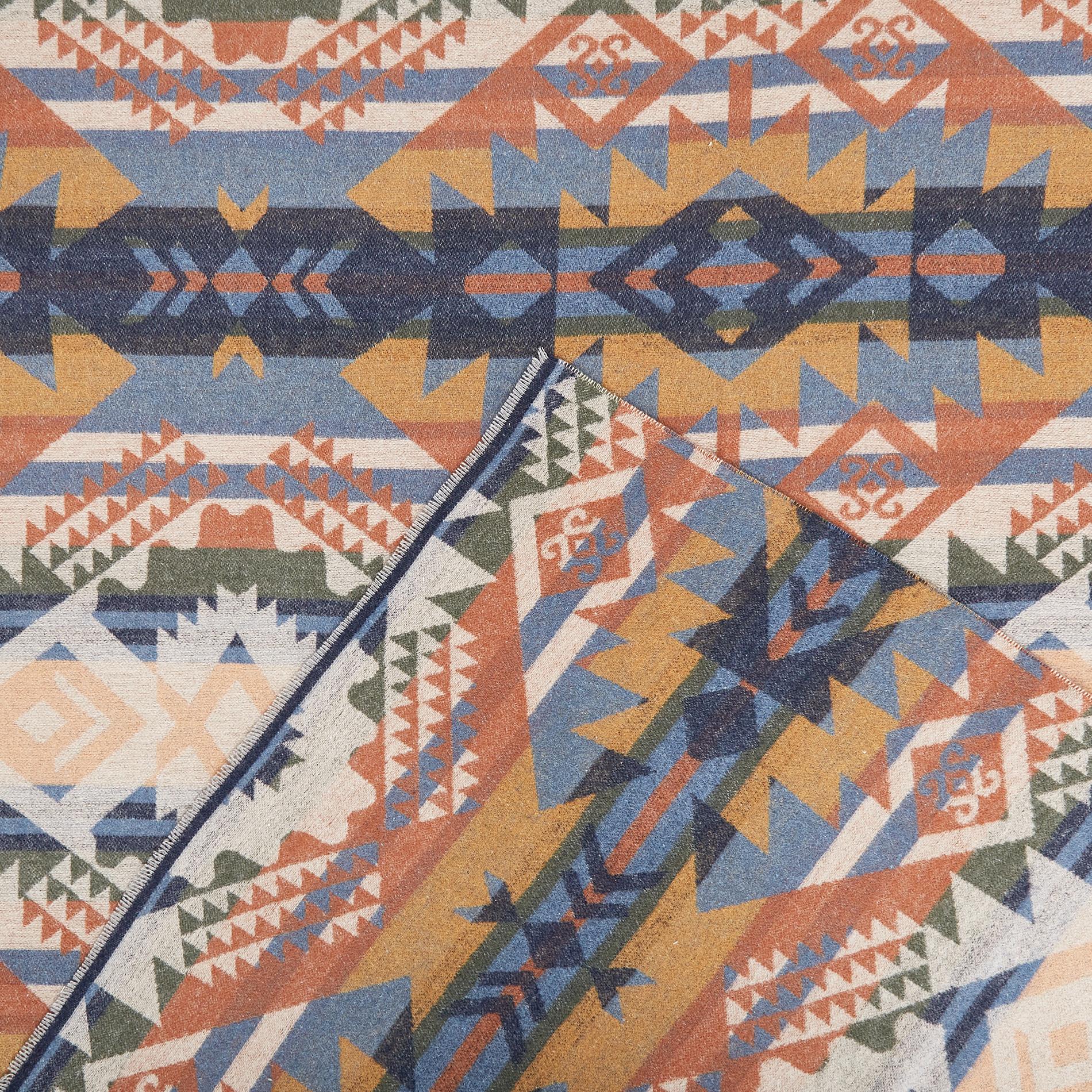 Plaid misto cotone fantasia geometrica, Multicolor, large image number 1