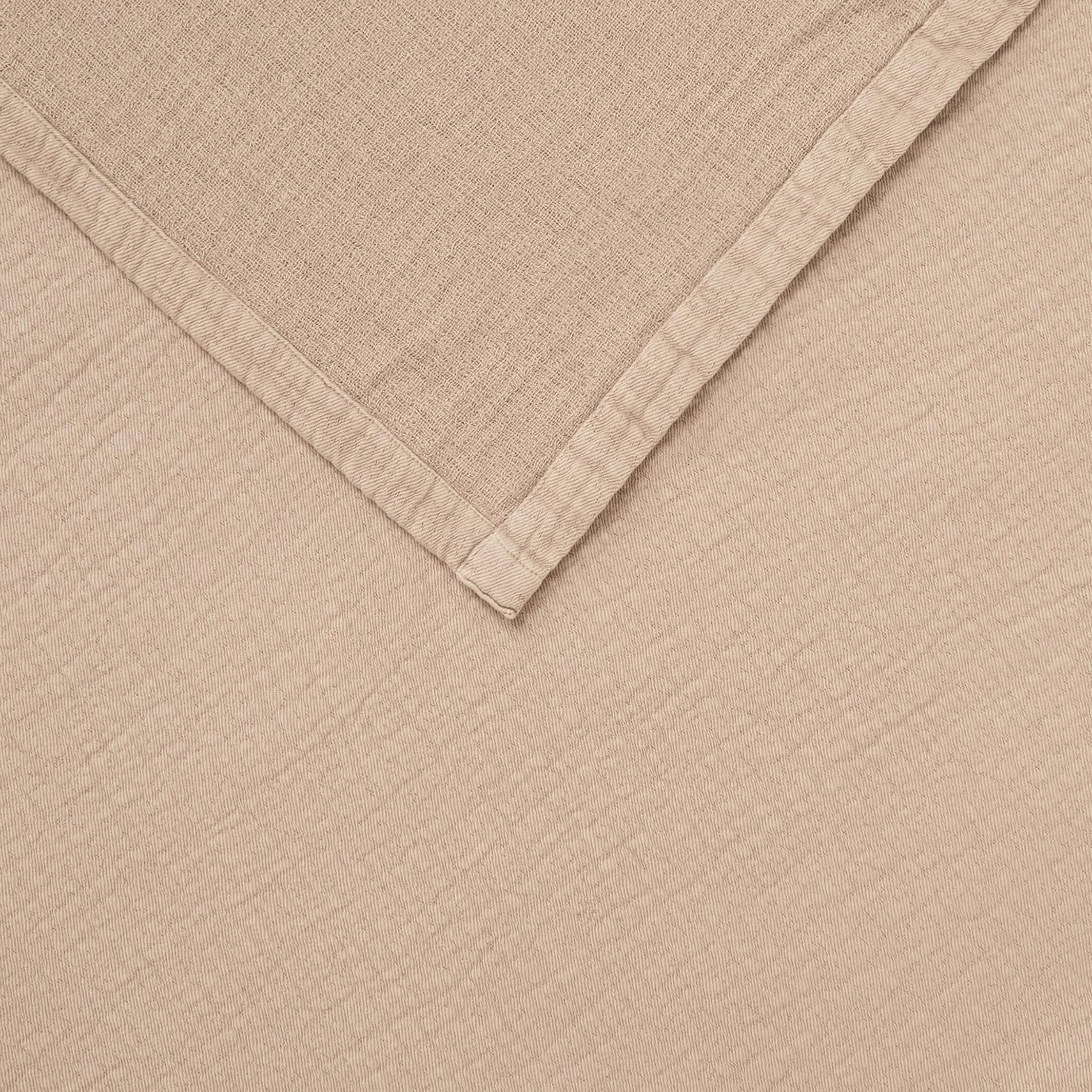 Copriletto garza di cotone tinta unita, Beige, large image number 1