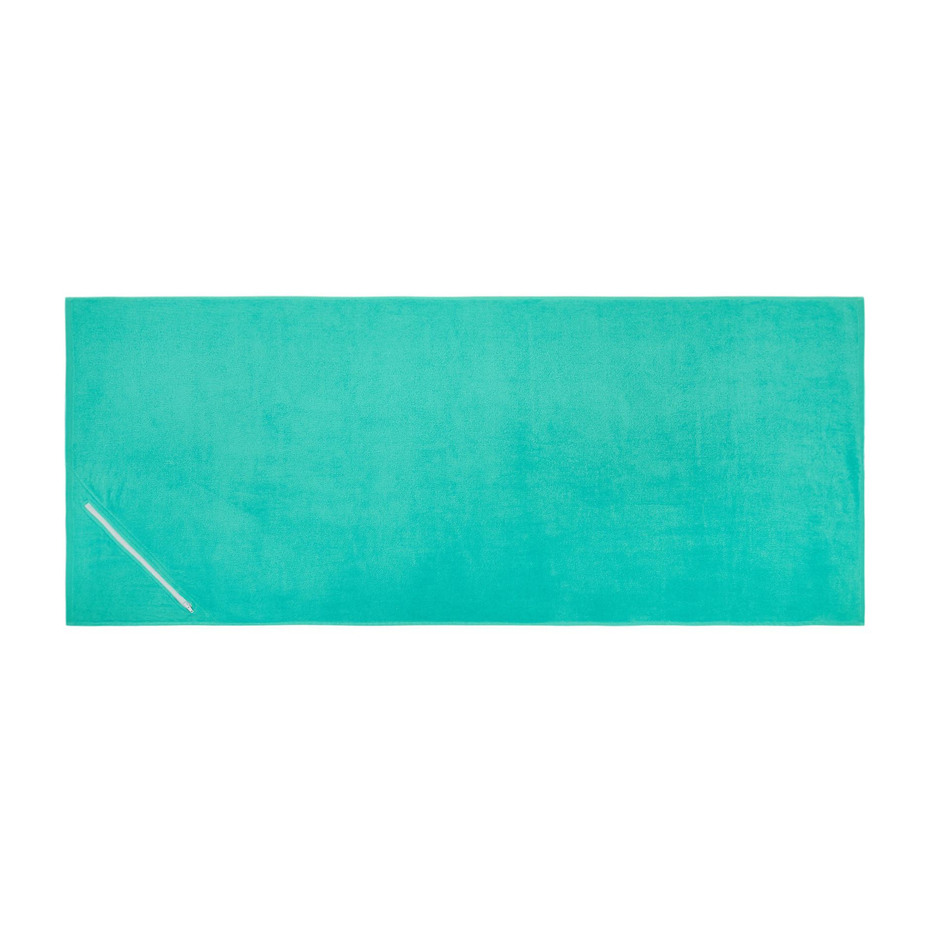 Telo mare in spugna di cotone con tasca, Verde chiaro, large image number 0