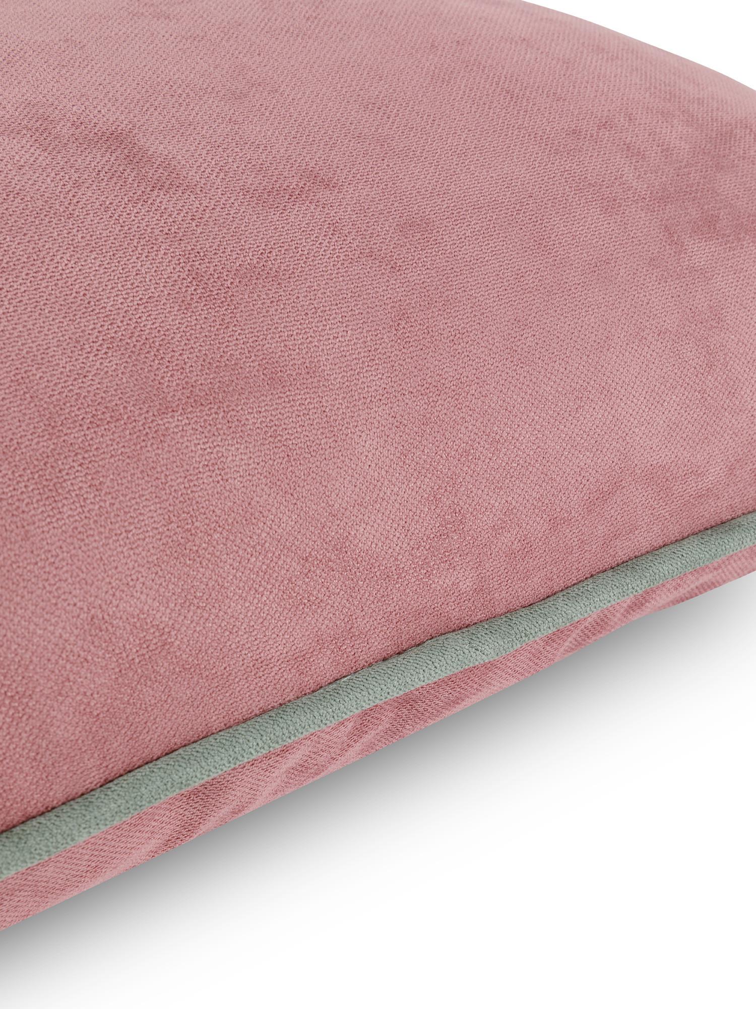 Cuscino tessuto effetto mélange 50x50cm, Rosa, large image number 2