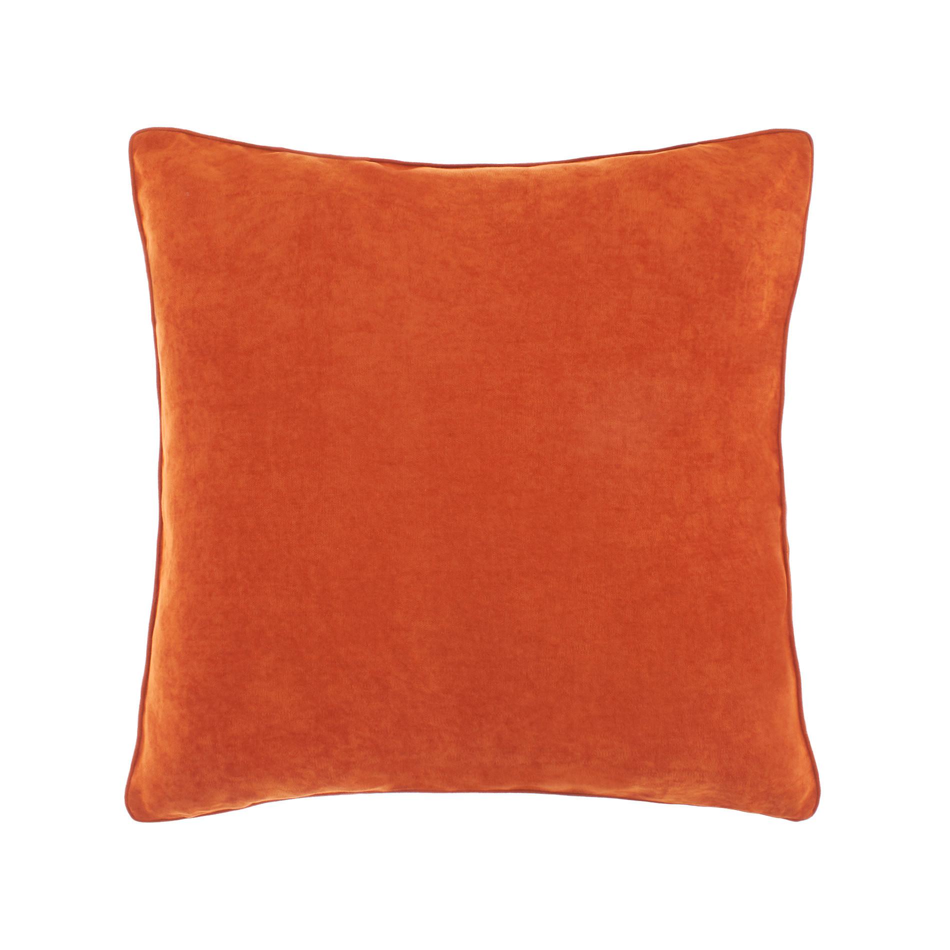 Cuscino melange tinta unita, Arancione scuro, large image number 0