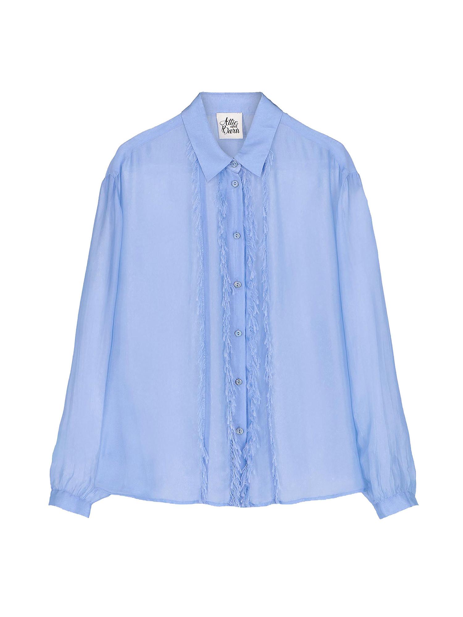Camicia in chiffon Vanilla, Azzurro, large image number 0