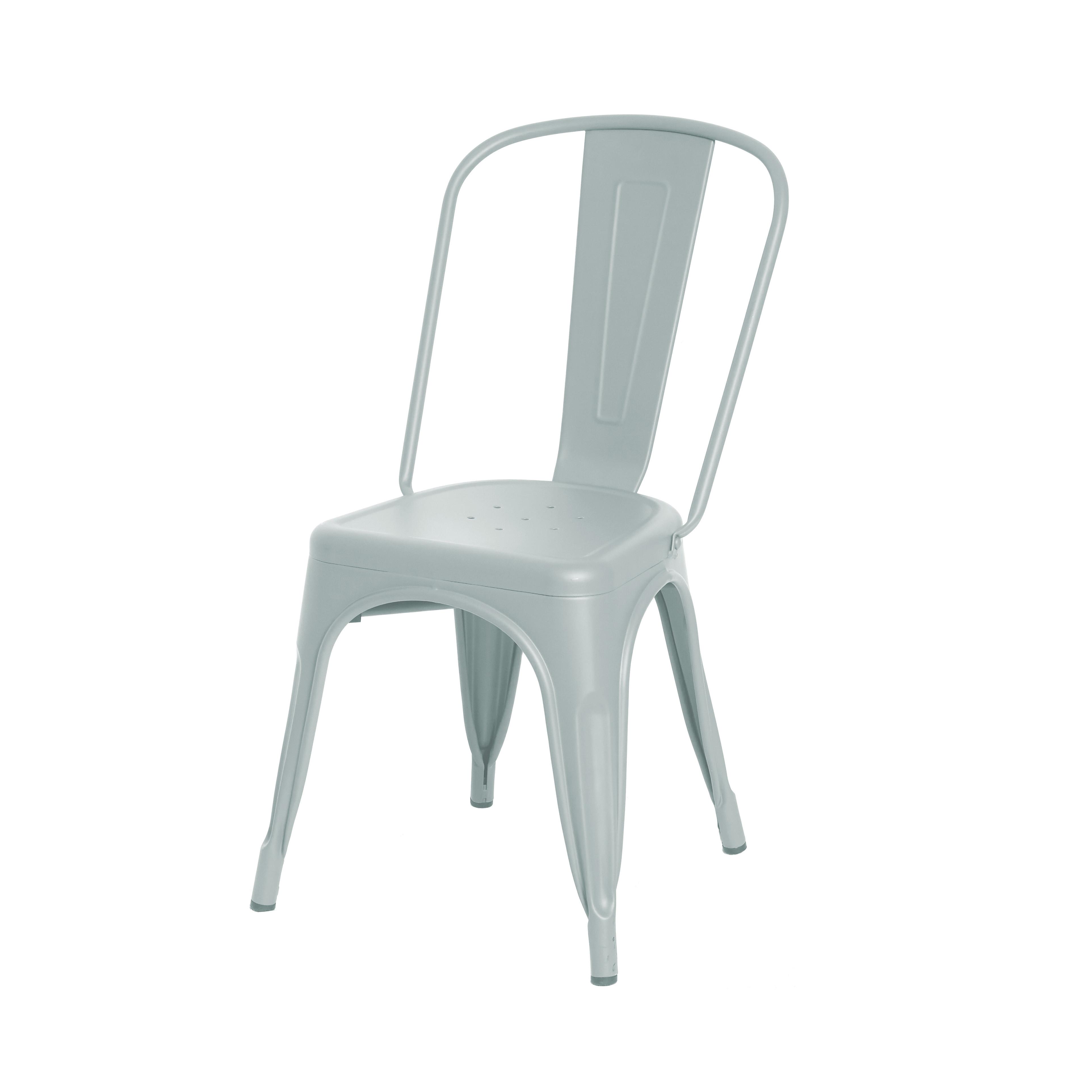 Sedia metallo verniciato Color Chair, Grigio chiaro, large image number 0