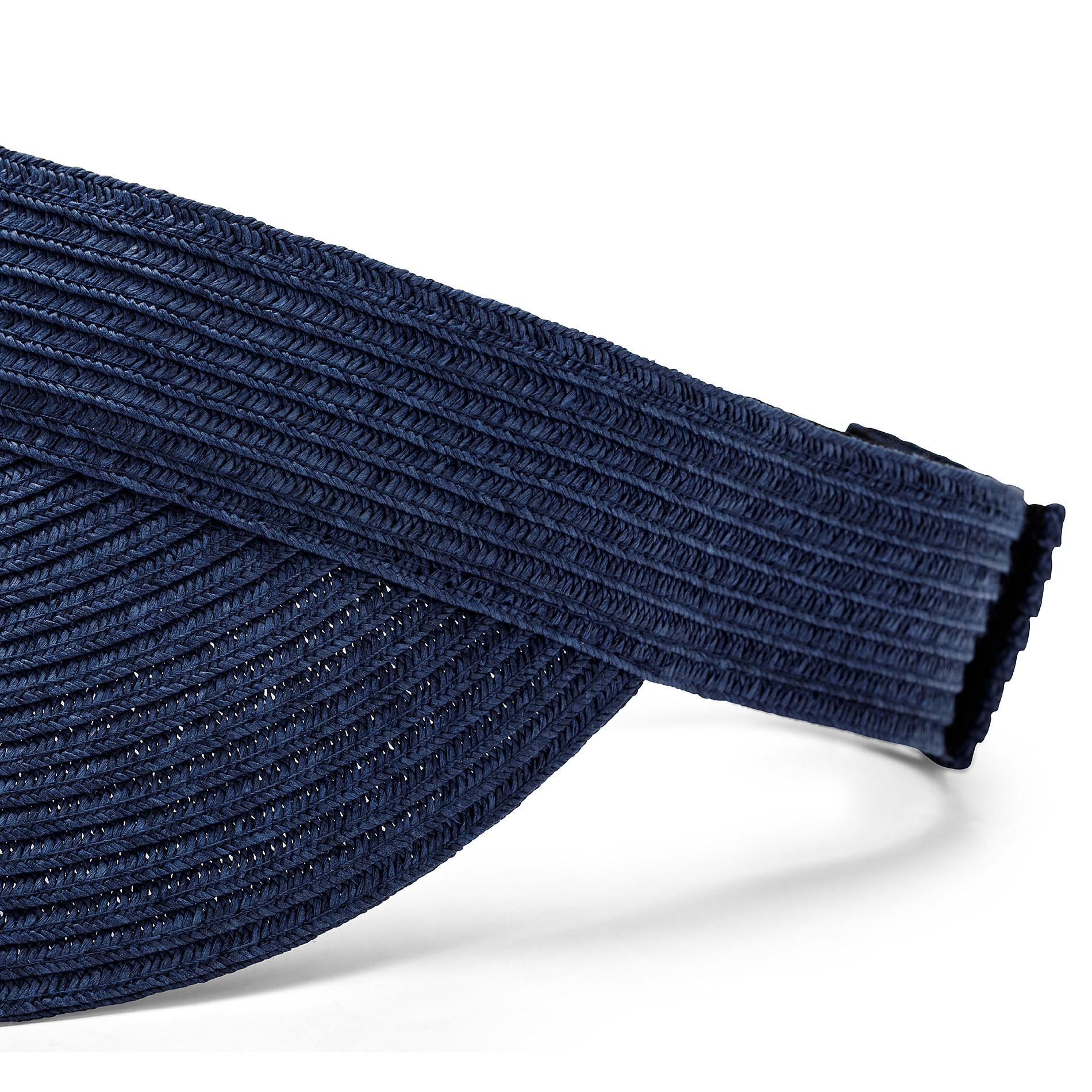 Visiera con paglia Koan, Blu scuro, large image number 1