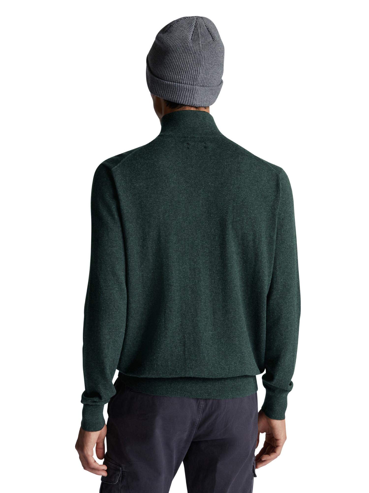 Maglione con scollo a V, Verde, large image number 2
