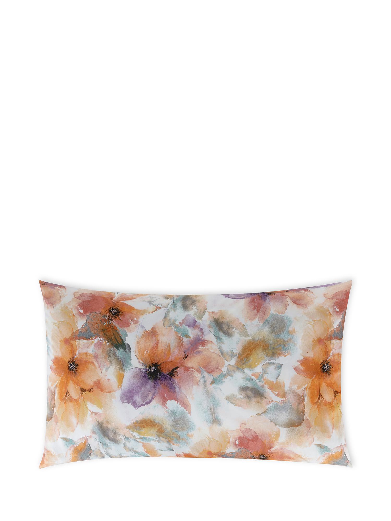 Federa cotone percalle fantasia autunnale, Multicolor, large image number 0