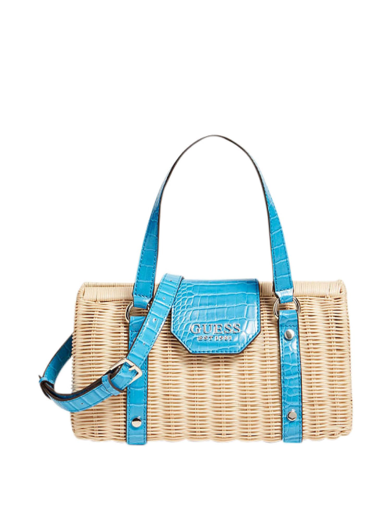 Paloma Satchel Bag, Blu, large image number 0