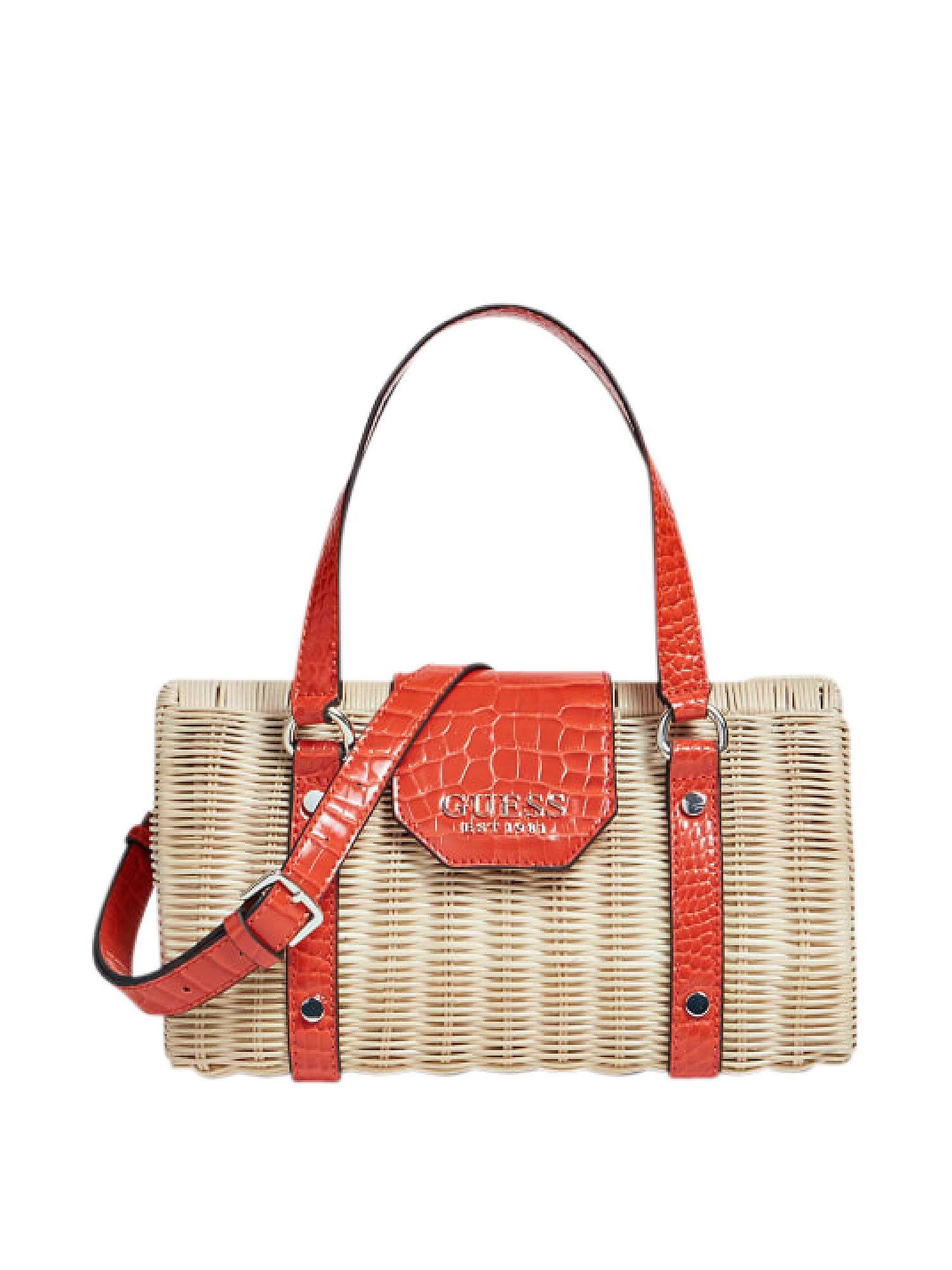 Paloma Satchel Bag, Arancione, large image number 0