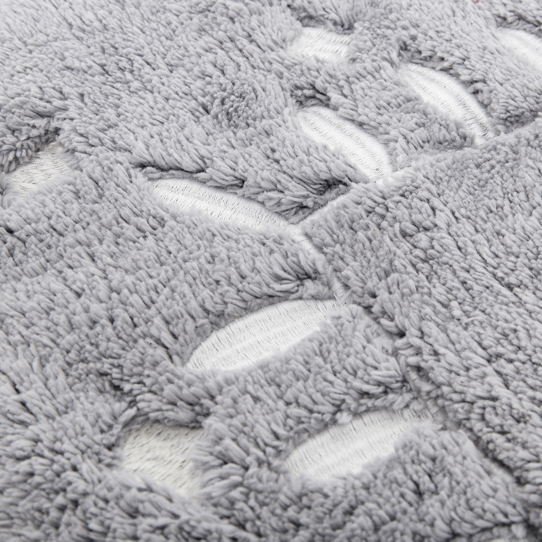 Tappeto bagno puro cotone, Grigio, large image number 1