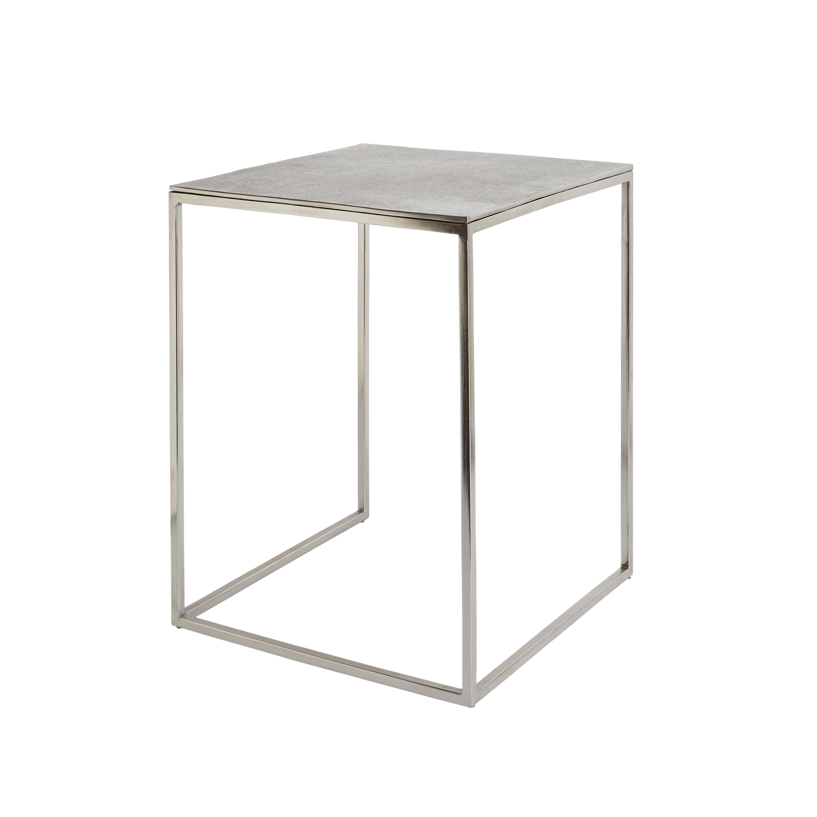 Coffee table in metallo cromato Snake, Grigio, large image number 0