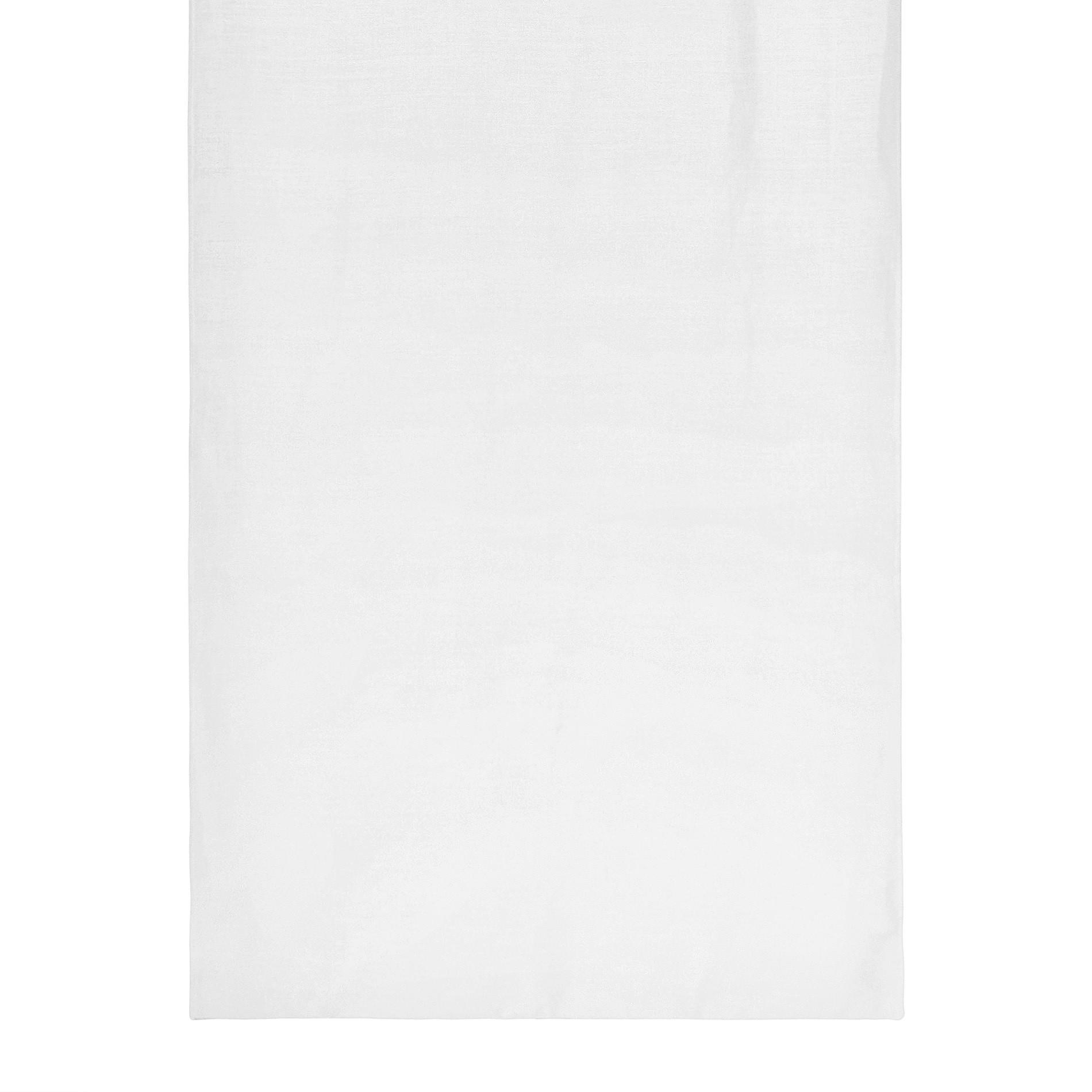 Tendina misto lino con fiocchetti, Bianco, large image number 2