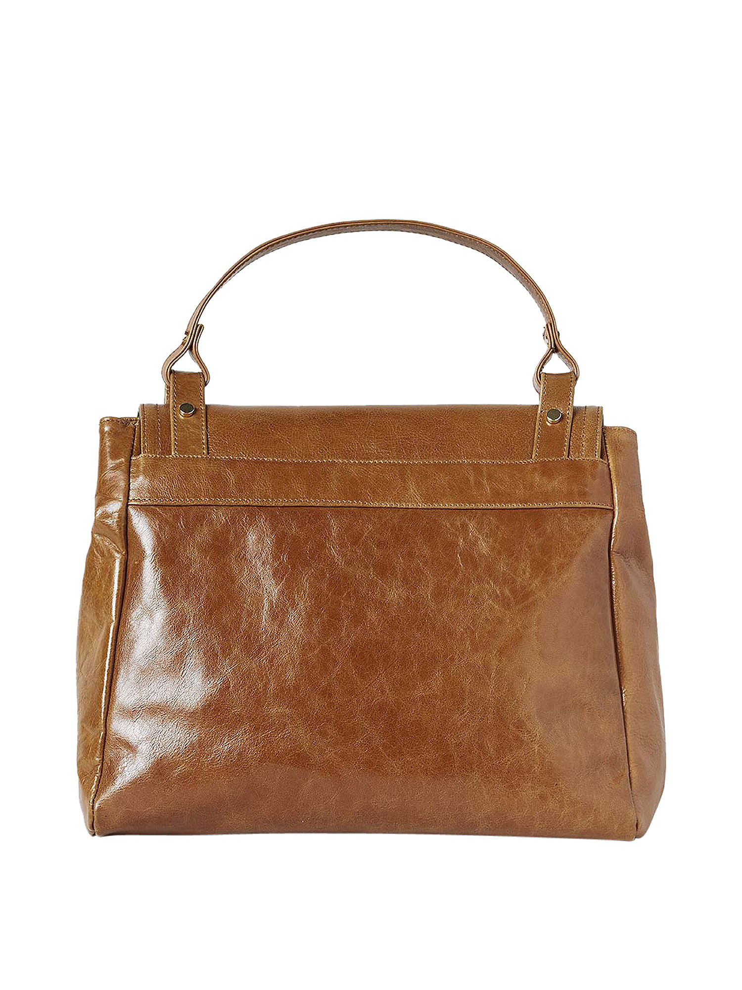 Borsa Flore in pelle, Marrone, large image number 1